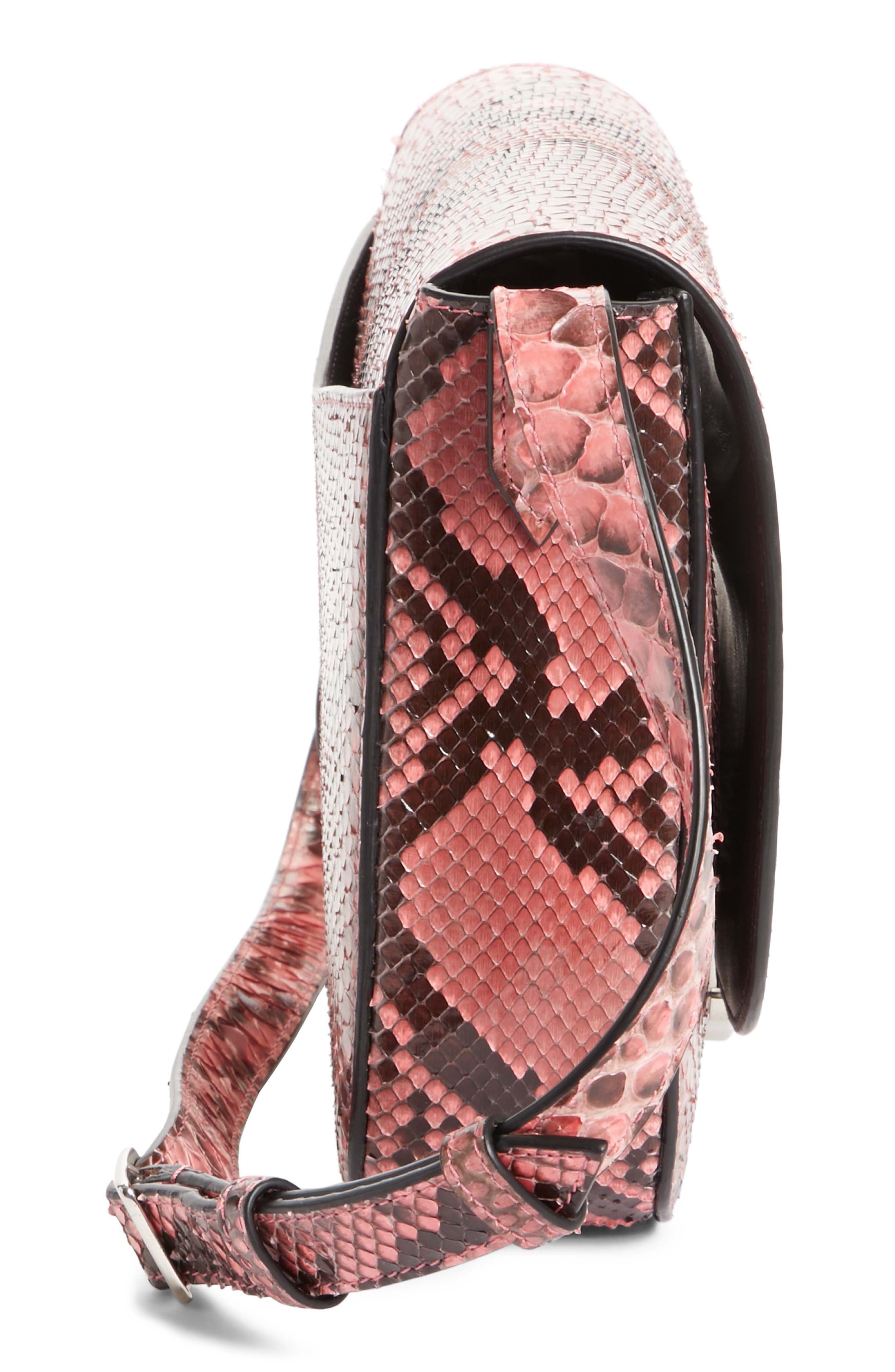 Calvin Klein 205W395NYC Genuine Python Shoulder Bag,                             Alternate thumbnail 5, color,