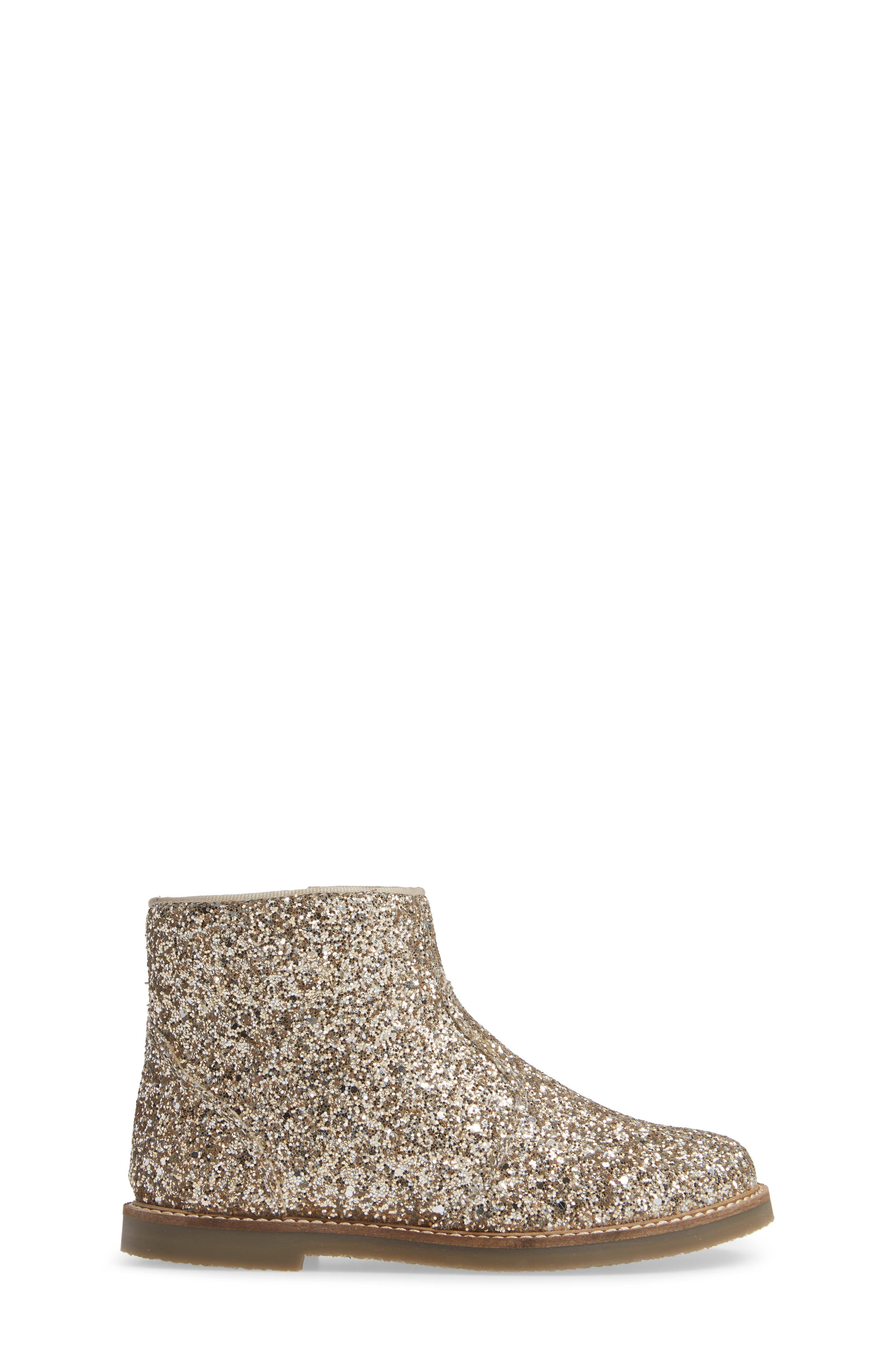 Glitter Booties,                             Alternate thumbnail 3, color,                             SILVER/ GOLD