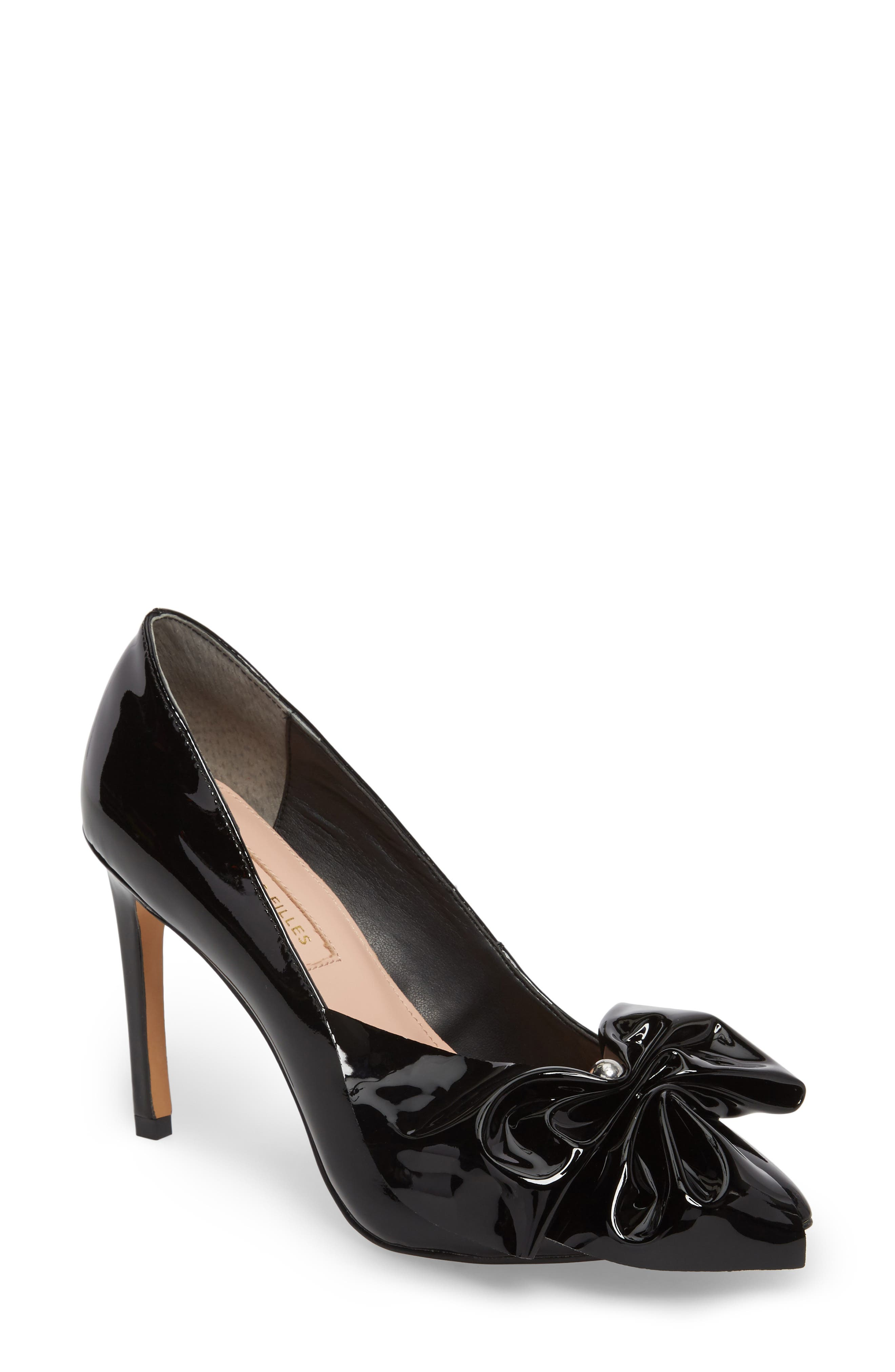 Bow Pointy Toe Pump,                         Main,                         color, 001