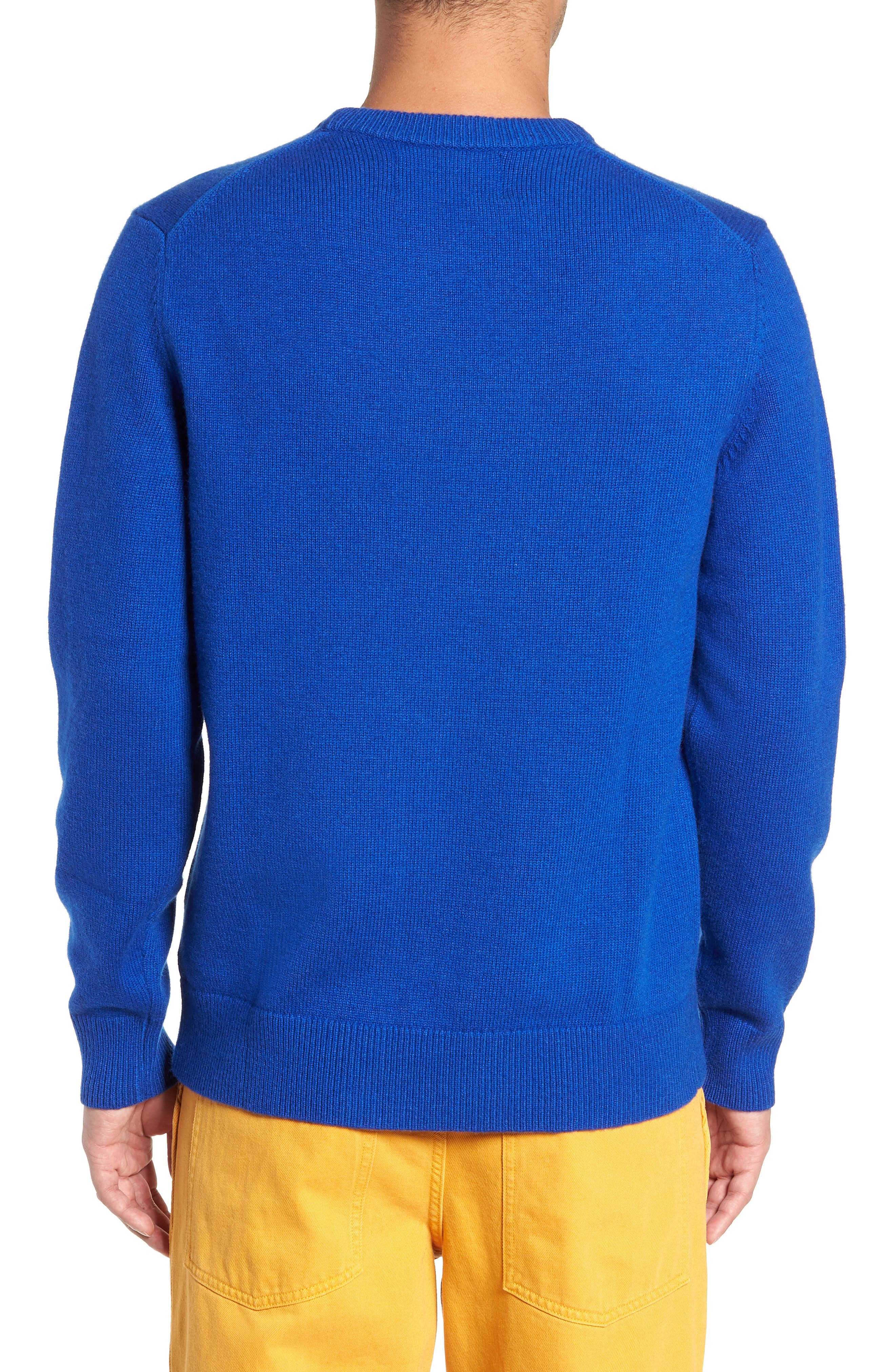 Logo Wool Sweater,                             Alternate thumbnail 2, color,                             SURF THE WEB