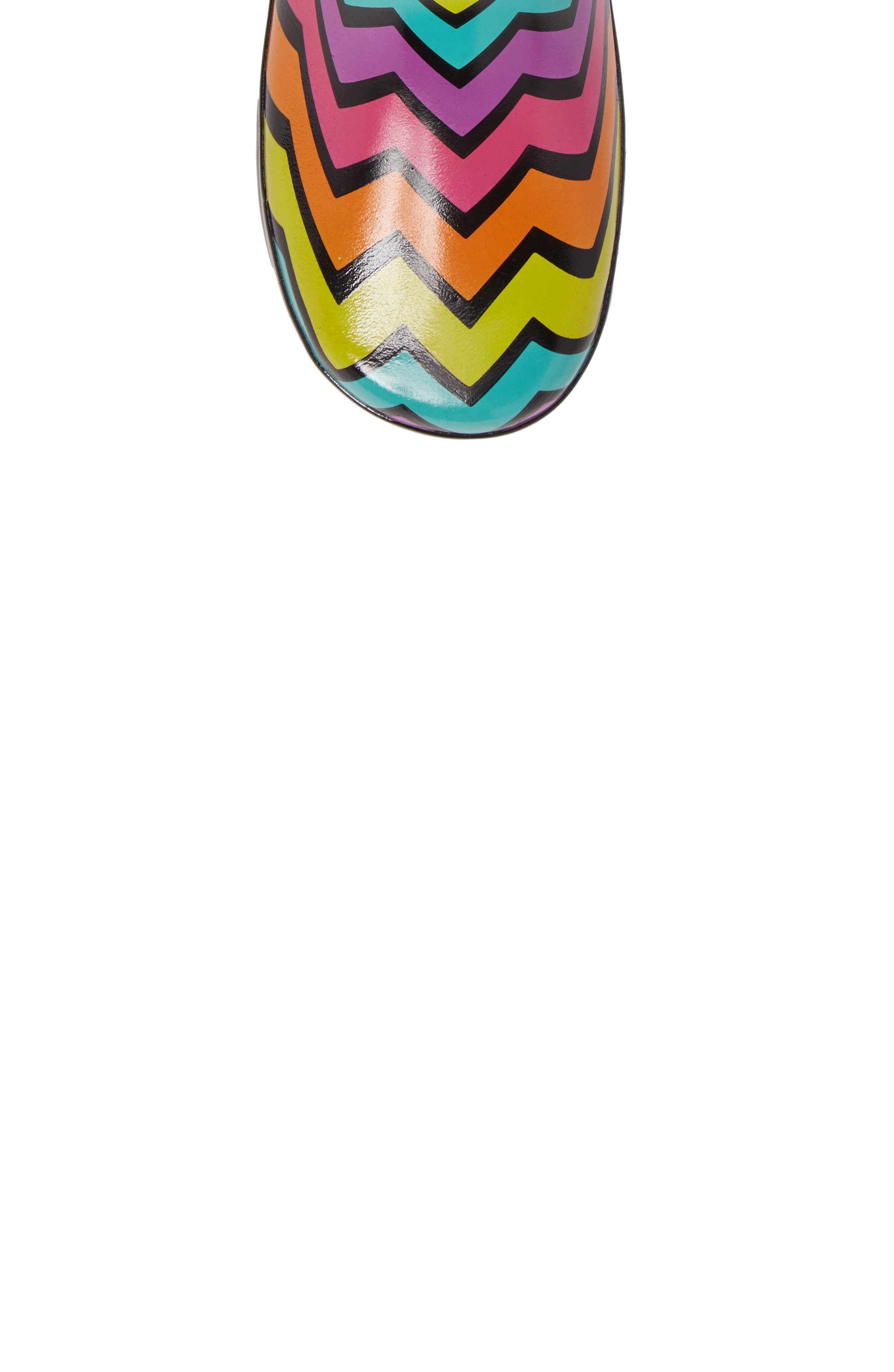 Funny Stripe Rain Boot,                             Alternate thumbnail 5, color,                             001