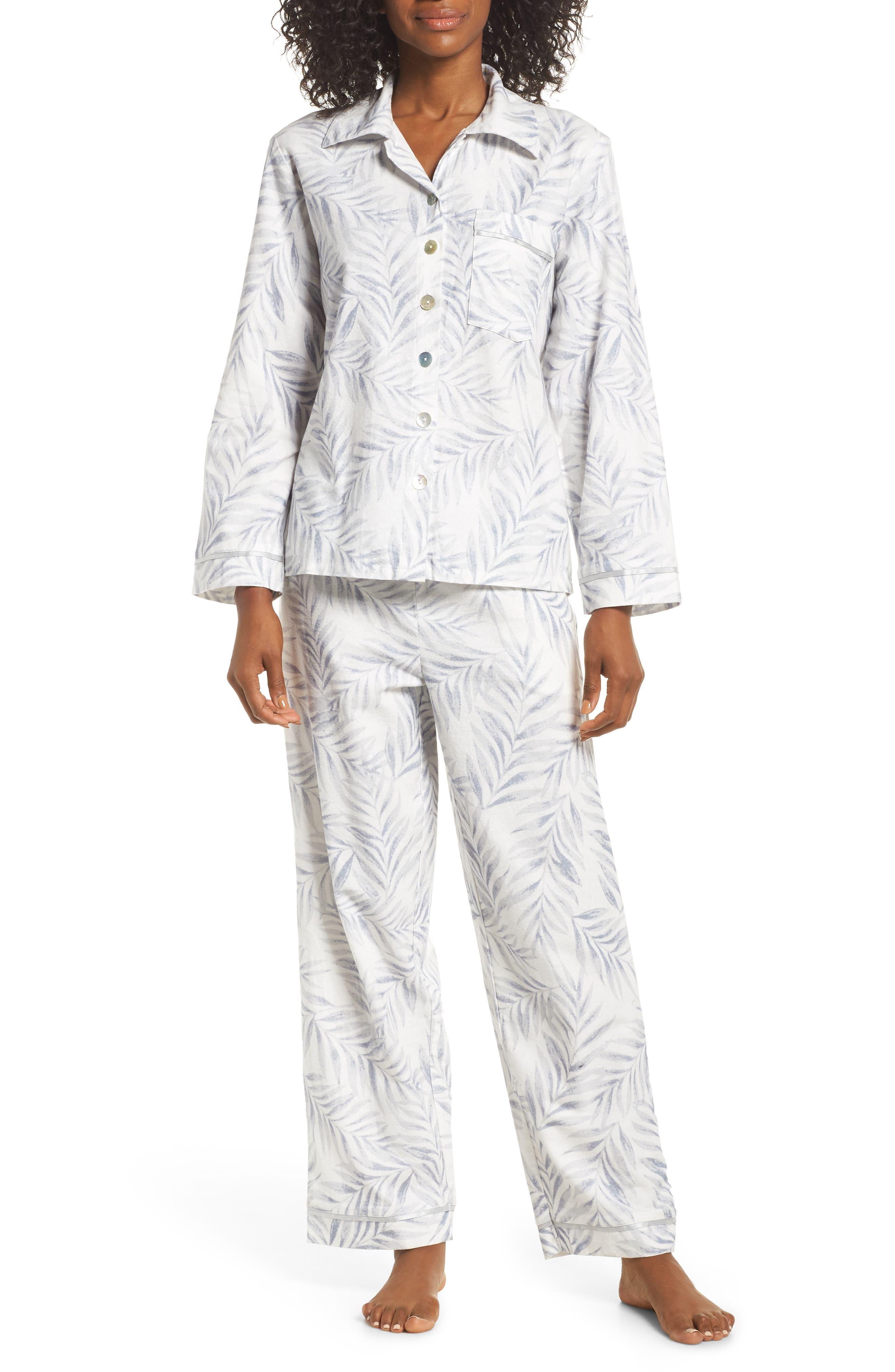 Silver Palms Pajamas,                             Main thumbnail 1, color,                             GREY