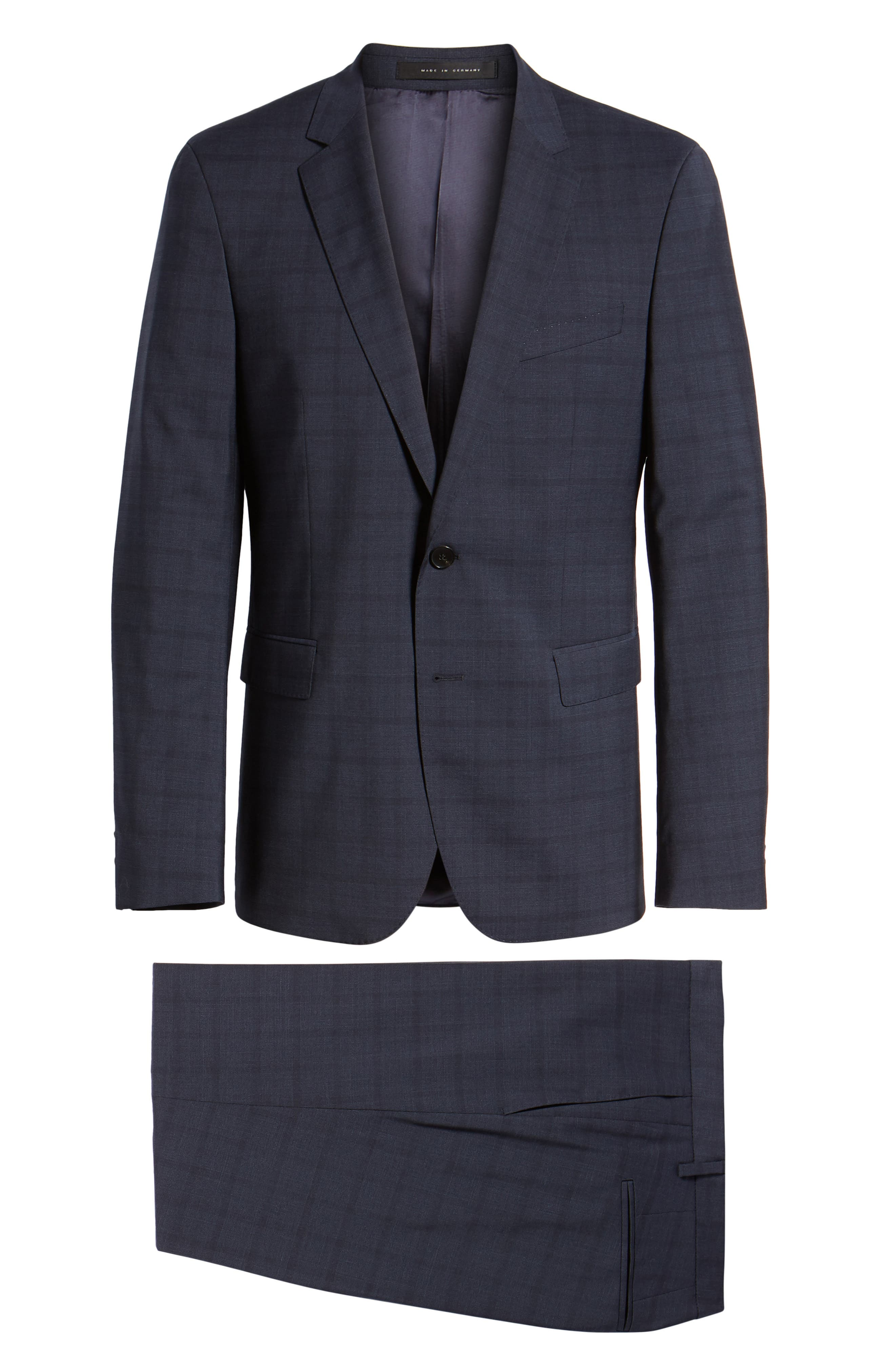 Ryan/Win Extra Trim Fit Windowpane Wool Suit,                             Alternate thumbnail 8, color,                             BLUE
