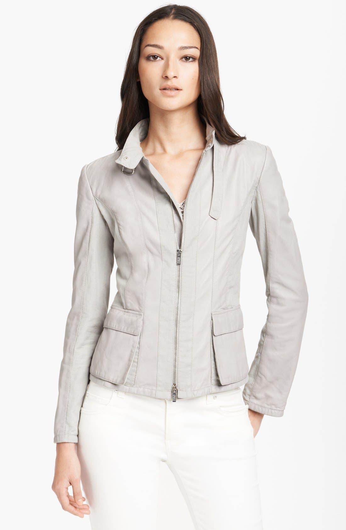 Armani Collezioni Linen & Nappa Leather Jacket