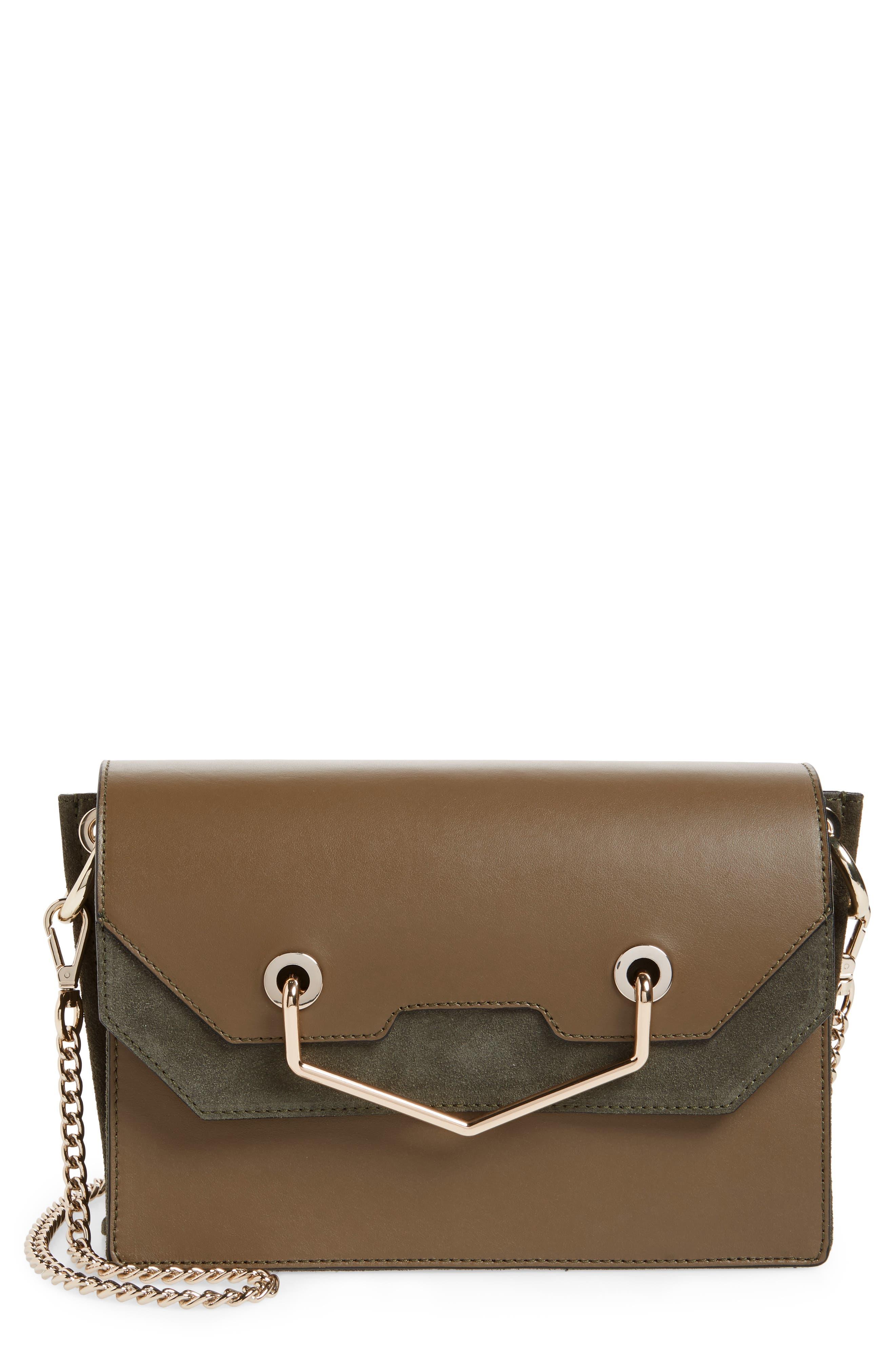 Premium Leather & Suede Soko Shoulder Bag,                         Main,                         color,