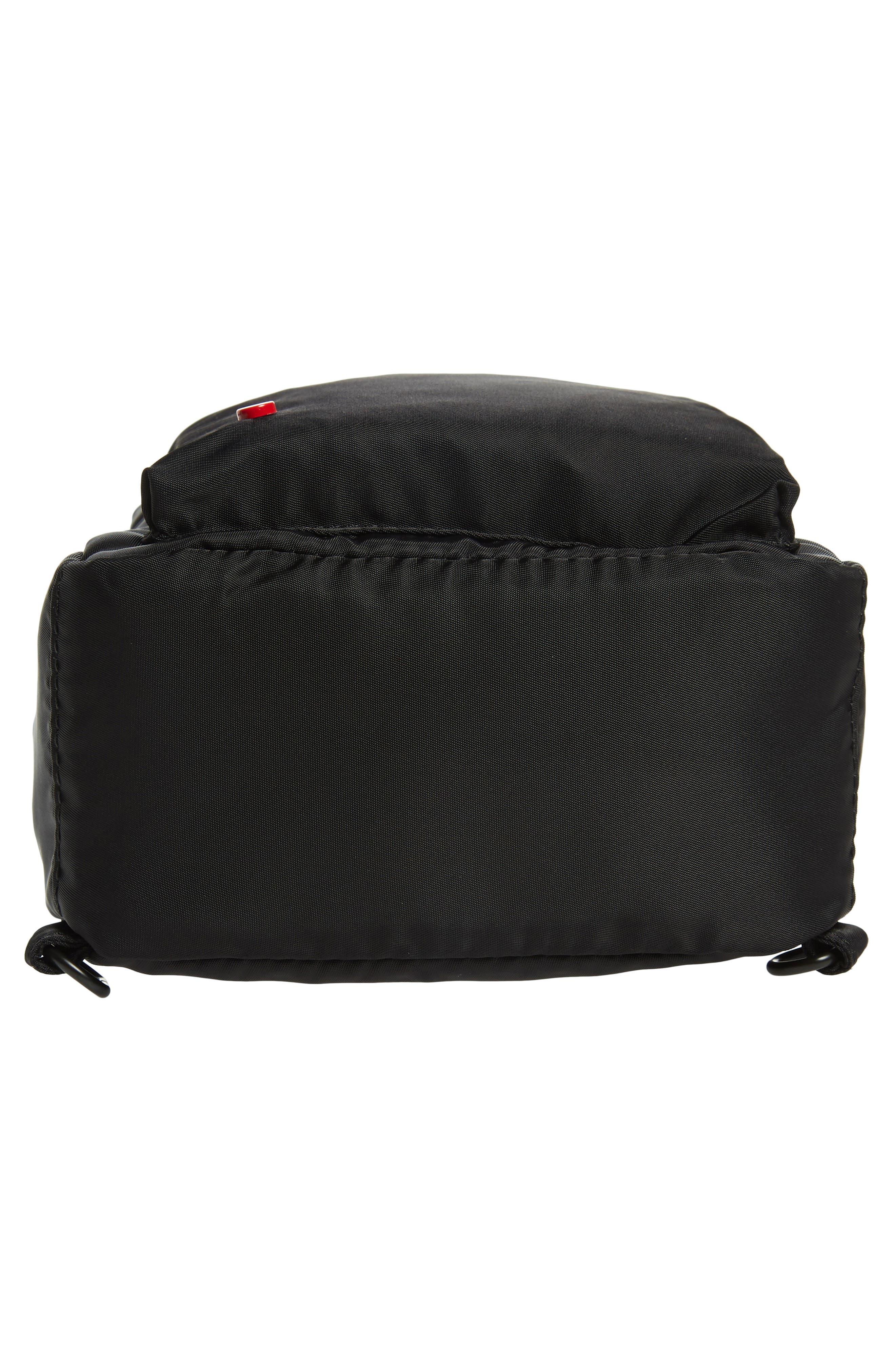 Mini Hart Convertible Nylon Backpack,                             Alternate thumbnail 7, color,                             BLACK