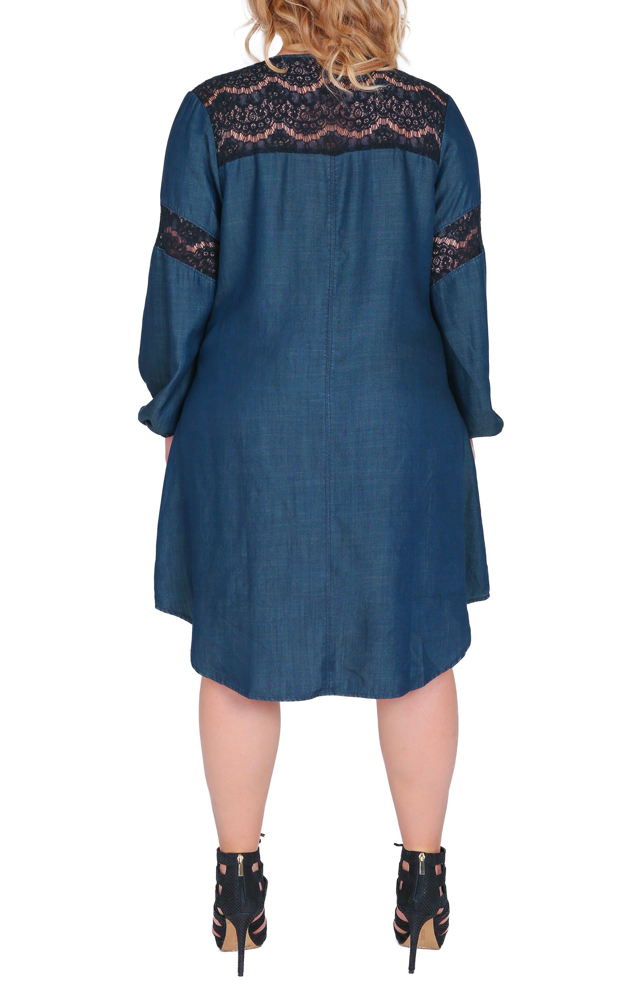 Shelby Shift Dress,                             Alternate thumbnail 2, color,                             BLUE