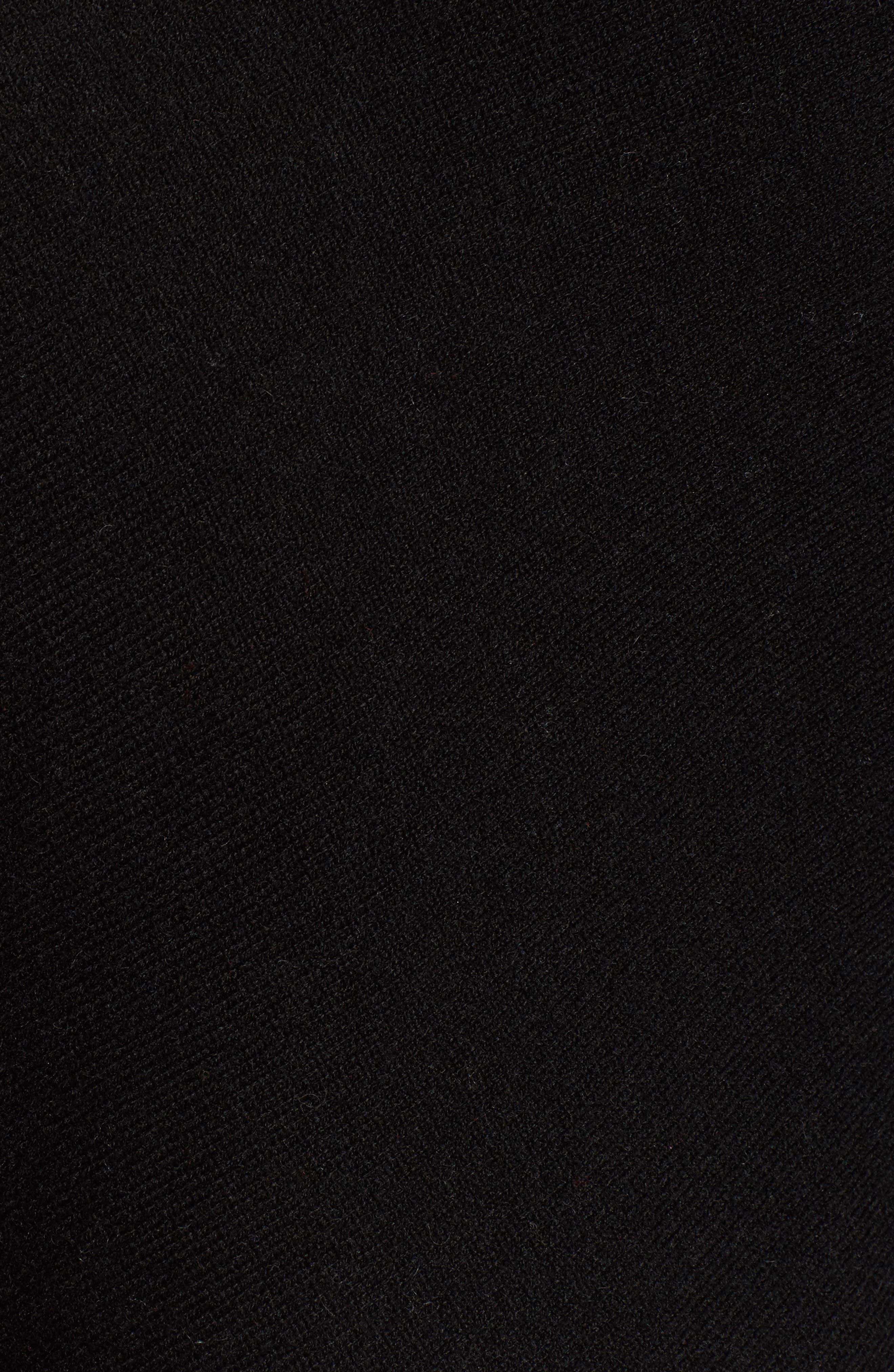 Convertible Cashmere Poncho,                             Alternate thumbnail 5, color,                             BLACK