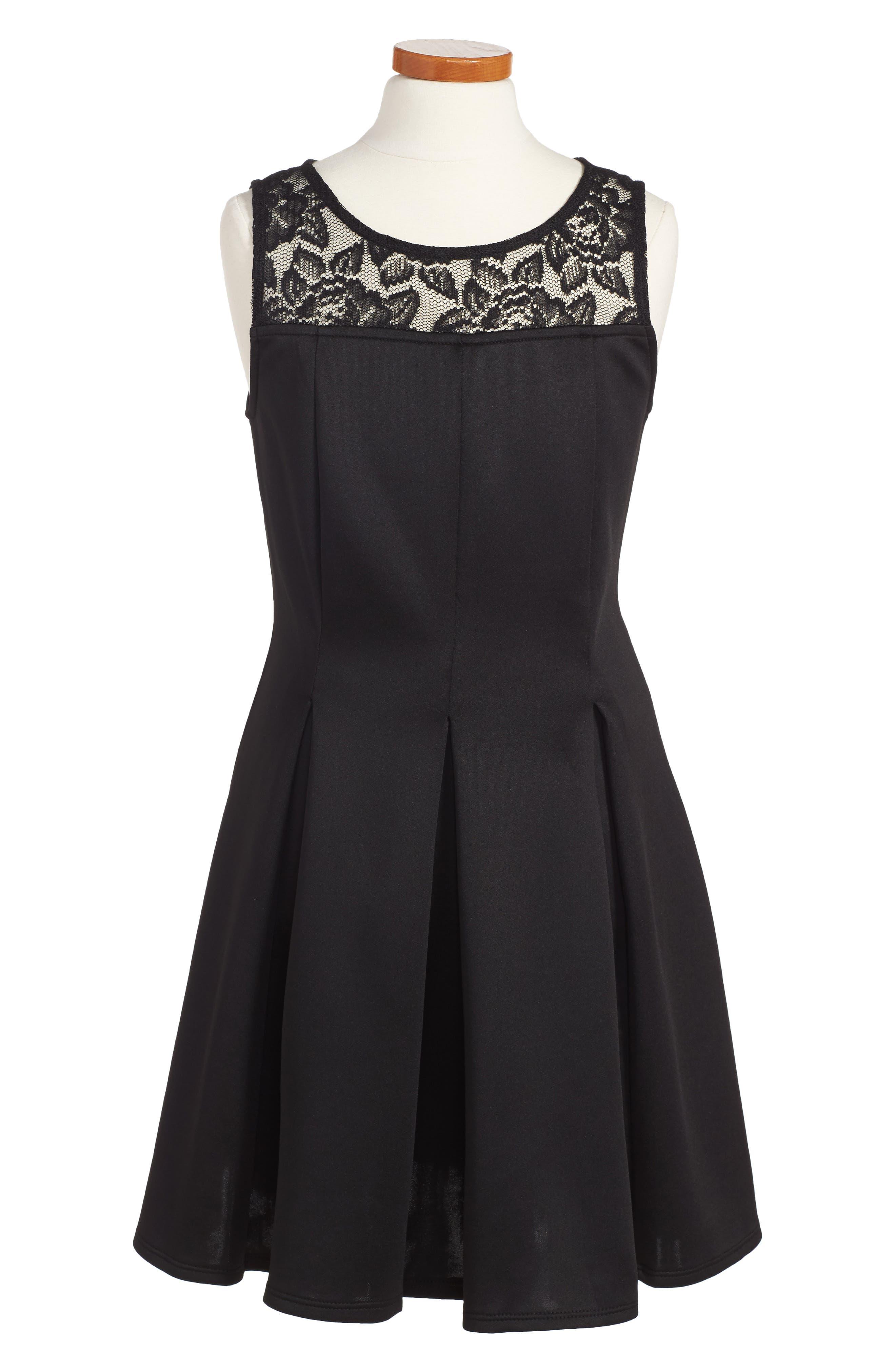 Pleated Dress,                             Main thumbnail 1, color,                             001
