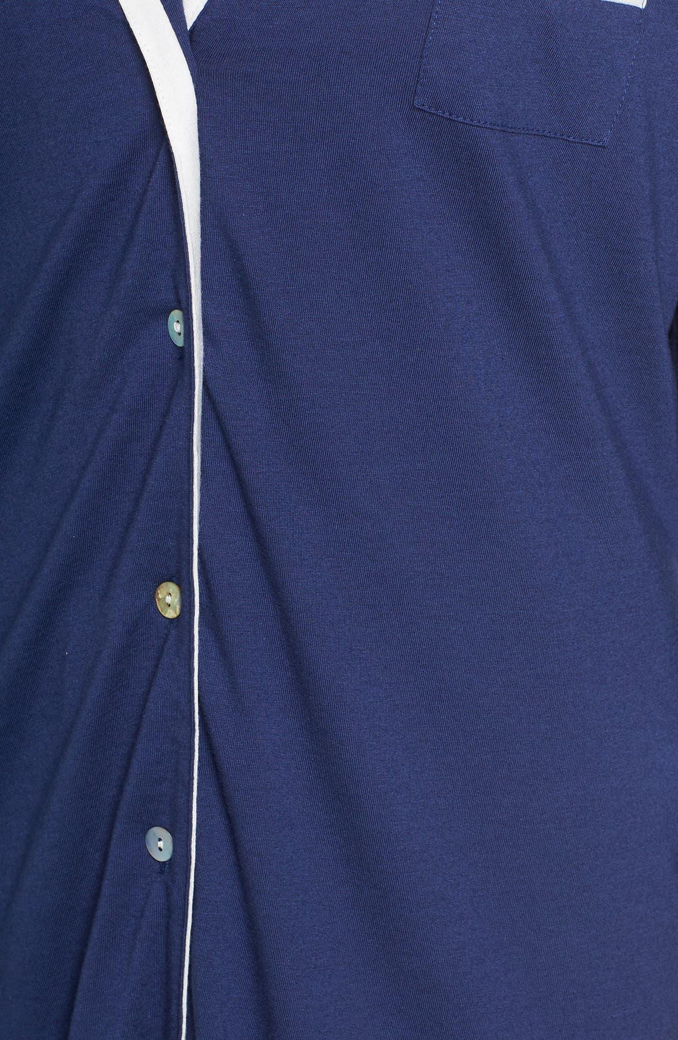 Amore Sleep Shirt,                             Alternate thumbnail 5, color,                             MARINE BLUE MOON/ IVORY