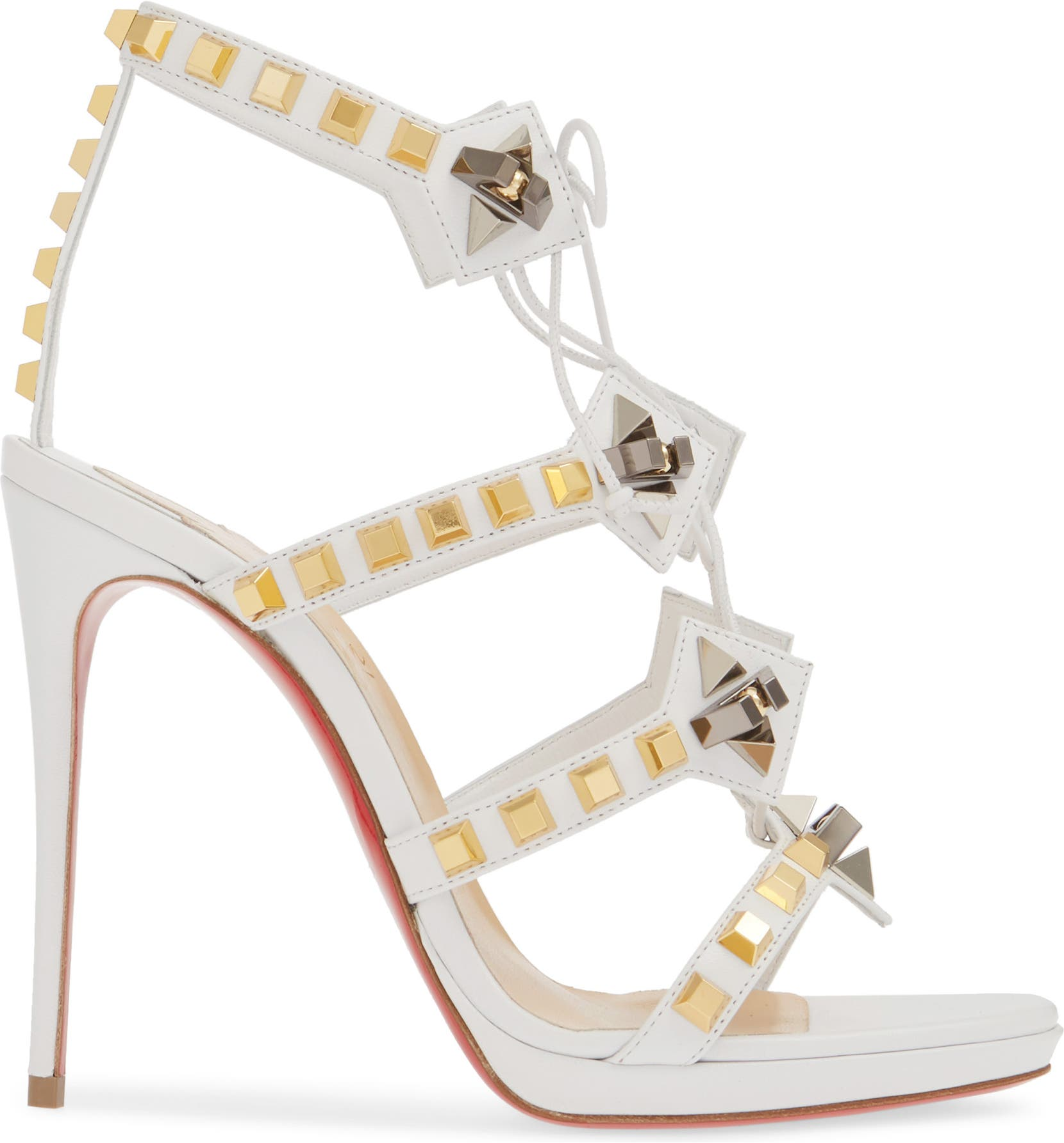 a8a501be7ed Christian Louboutin Multiplaticool Studded Gladiator Sandal (Women ...