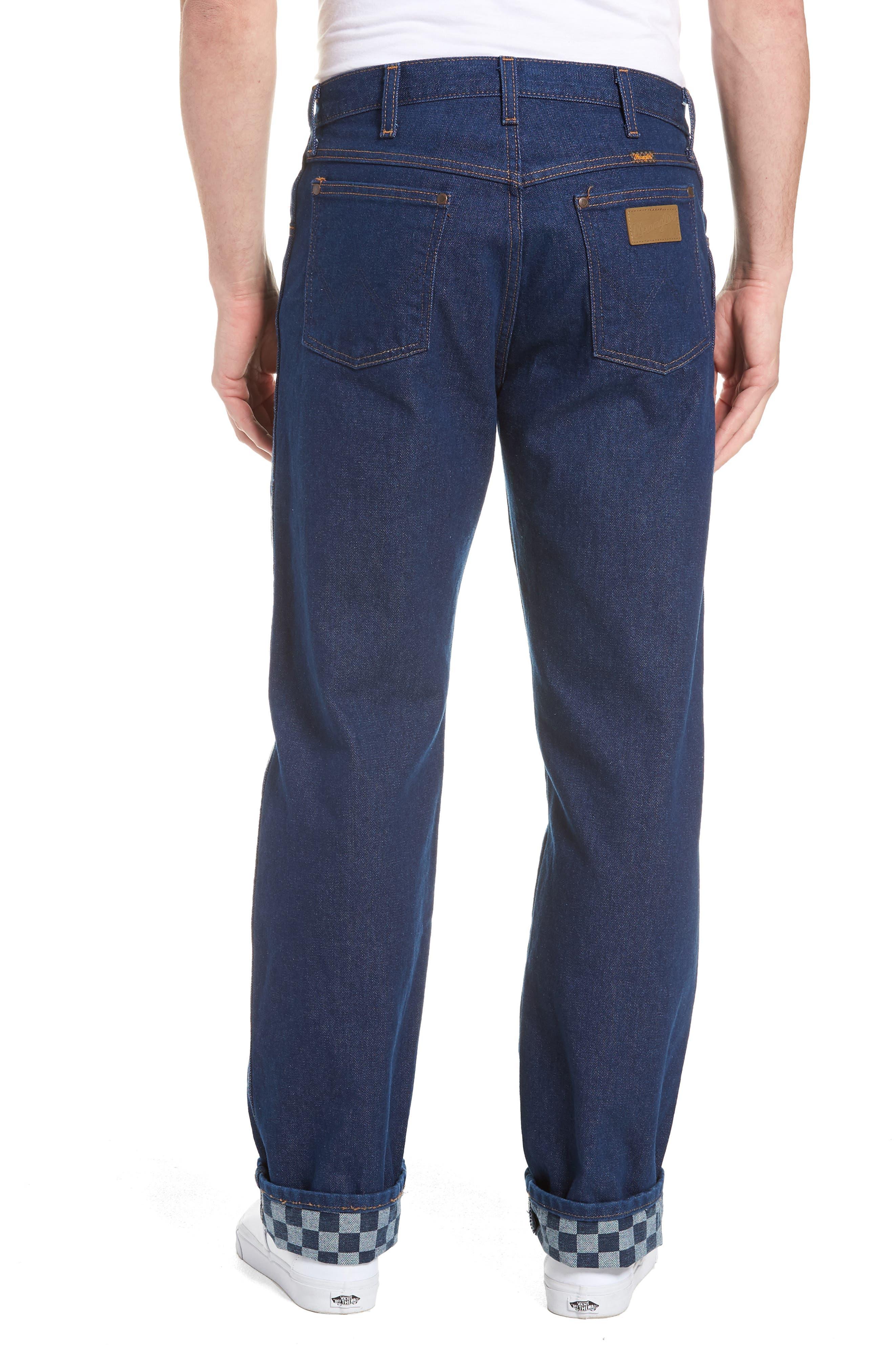 x Wrangler Straight Leg Jeans,                             Alternate thumbnail 2, color,                             PREWASH INDIGO