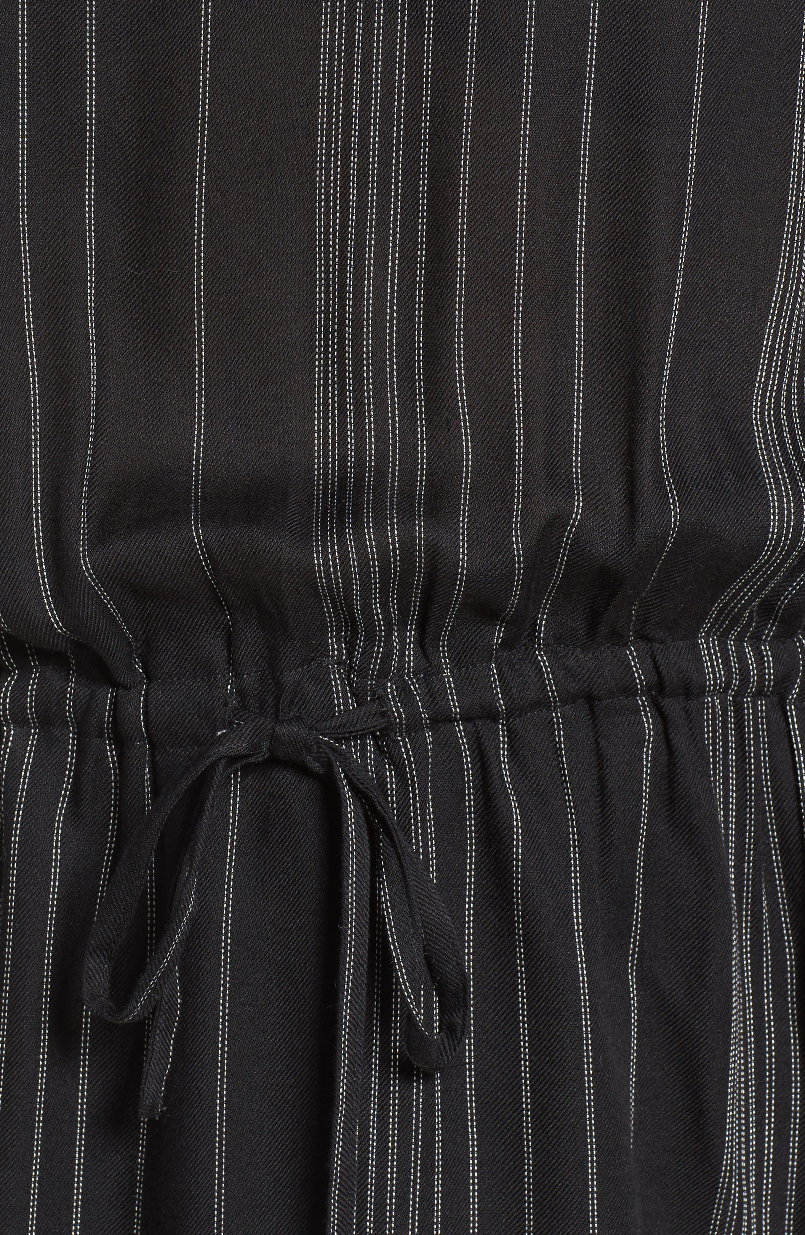 '70s Tie Waist Blouse,                             Alternate thumbnail 5, color,                             001