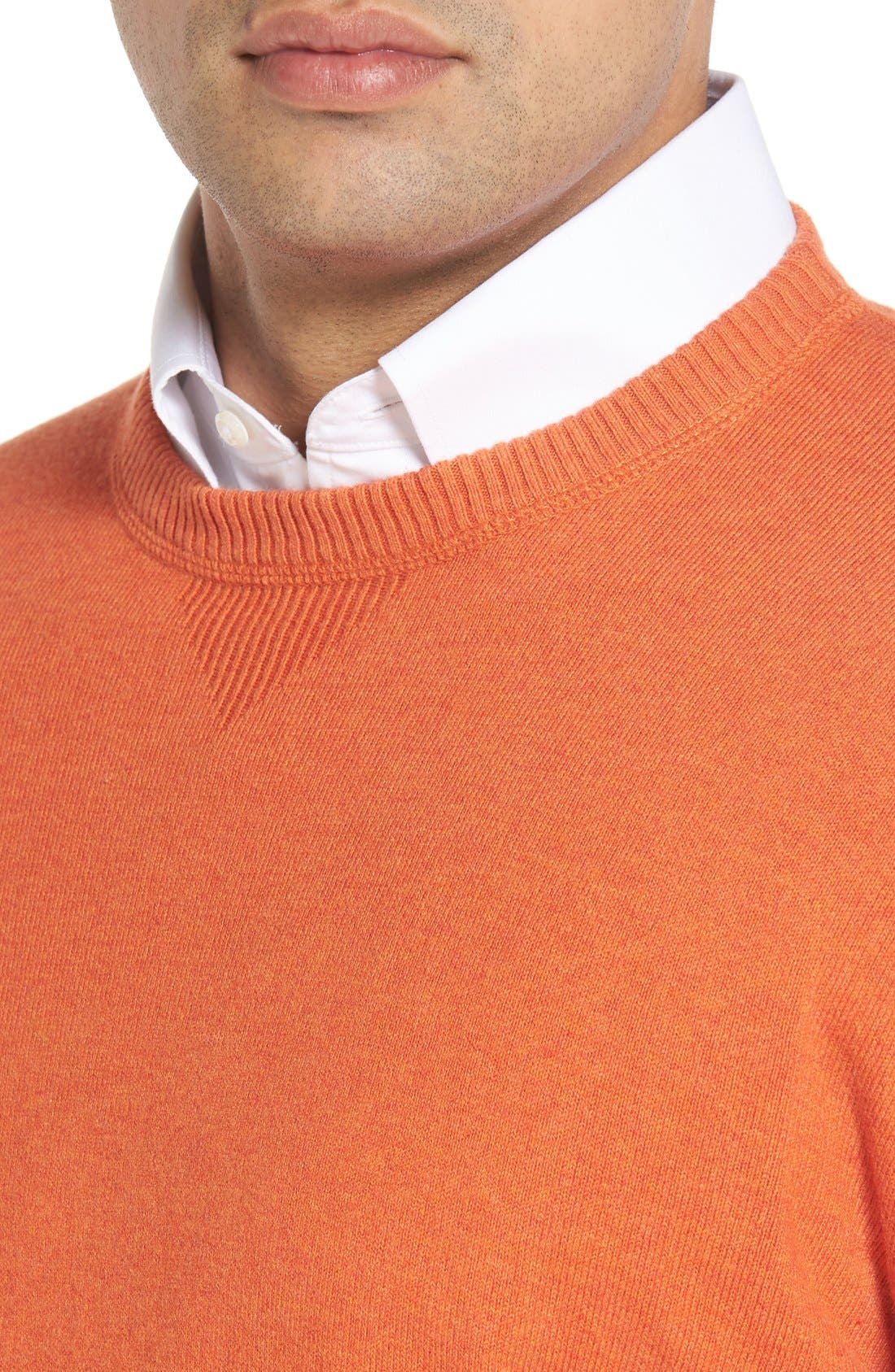 'Jersey Sport' Cotton Blend Crewneck Sweater,                             Alternate thumbnail 31, color,