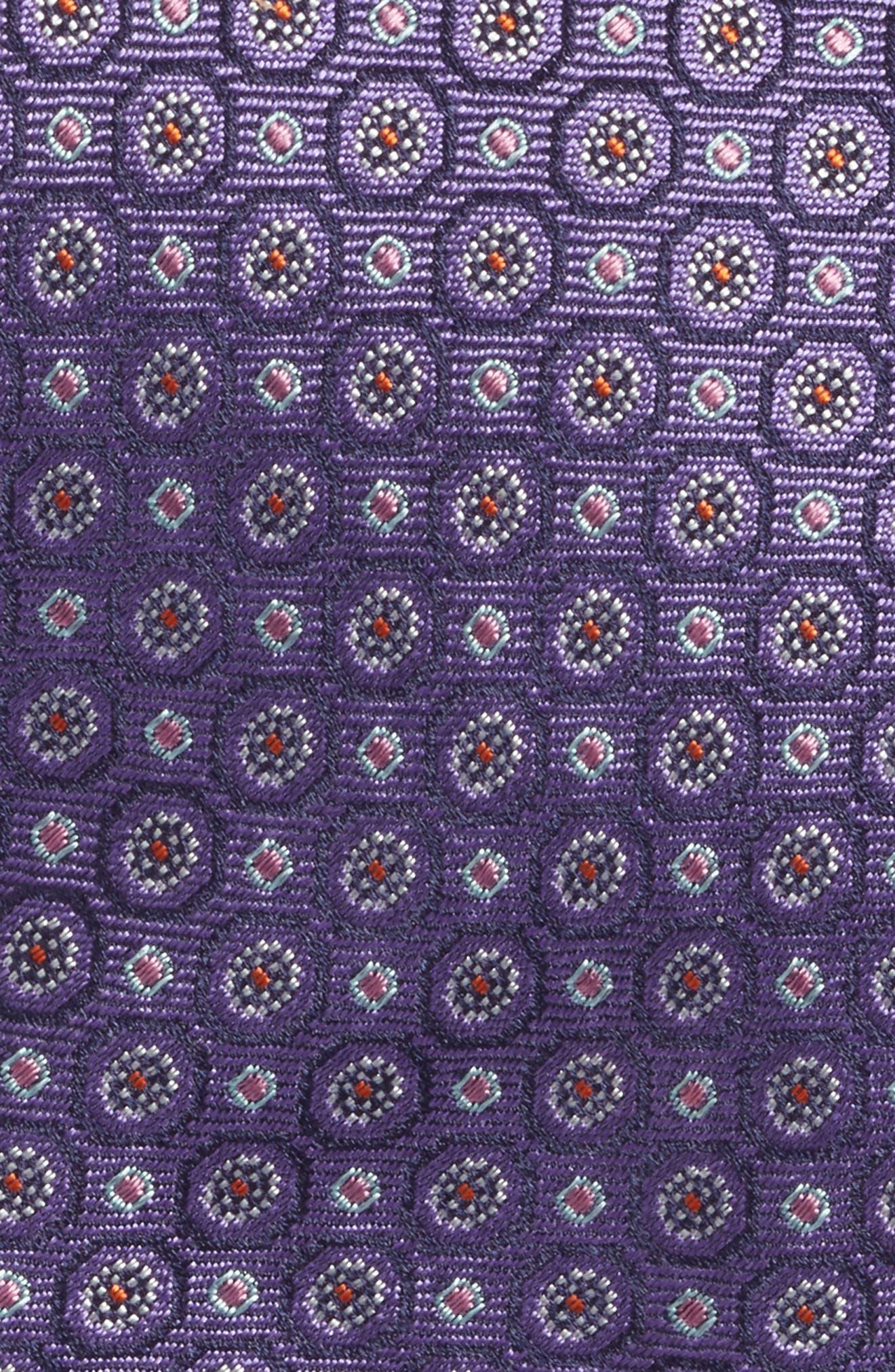 Medallion Silk Tie,                             Alternate thumbnail 2, color,                             500