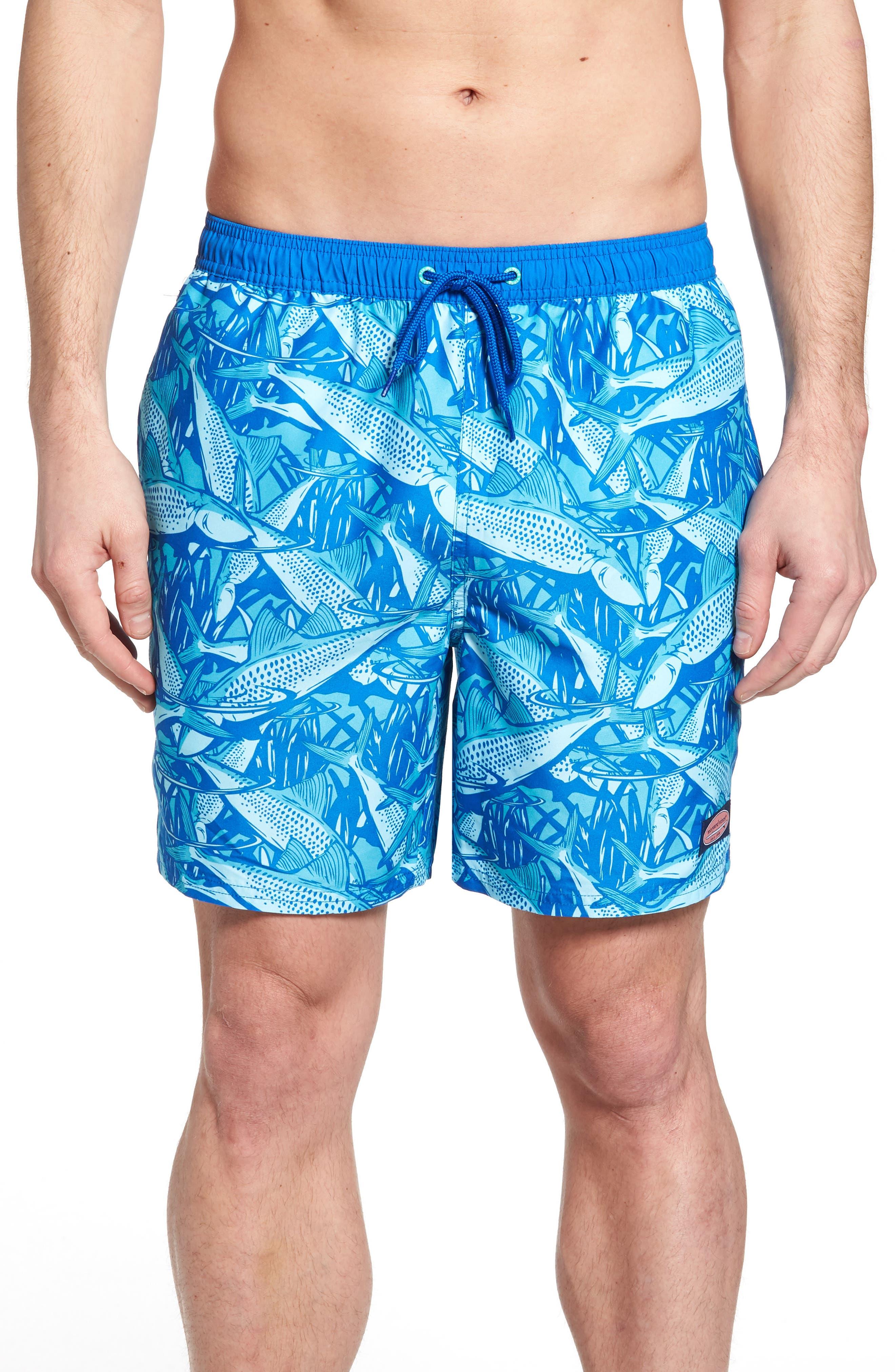 Chappy Bonefish Print Swim Trunks,                             Main thumbnail 1, color,                             459