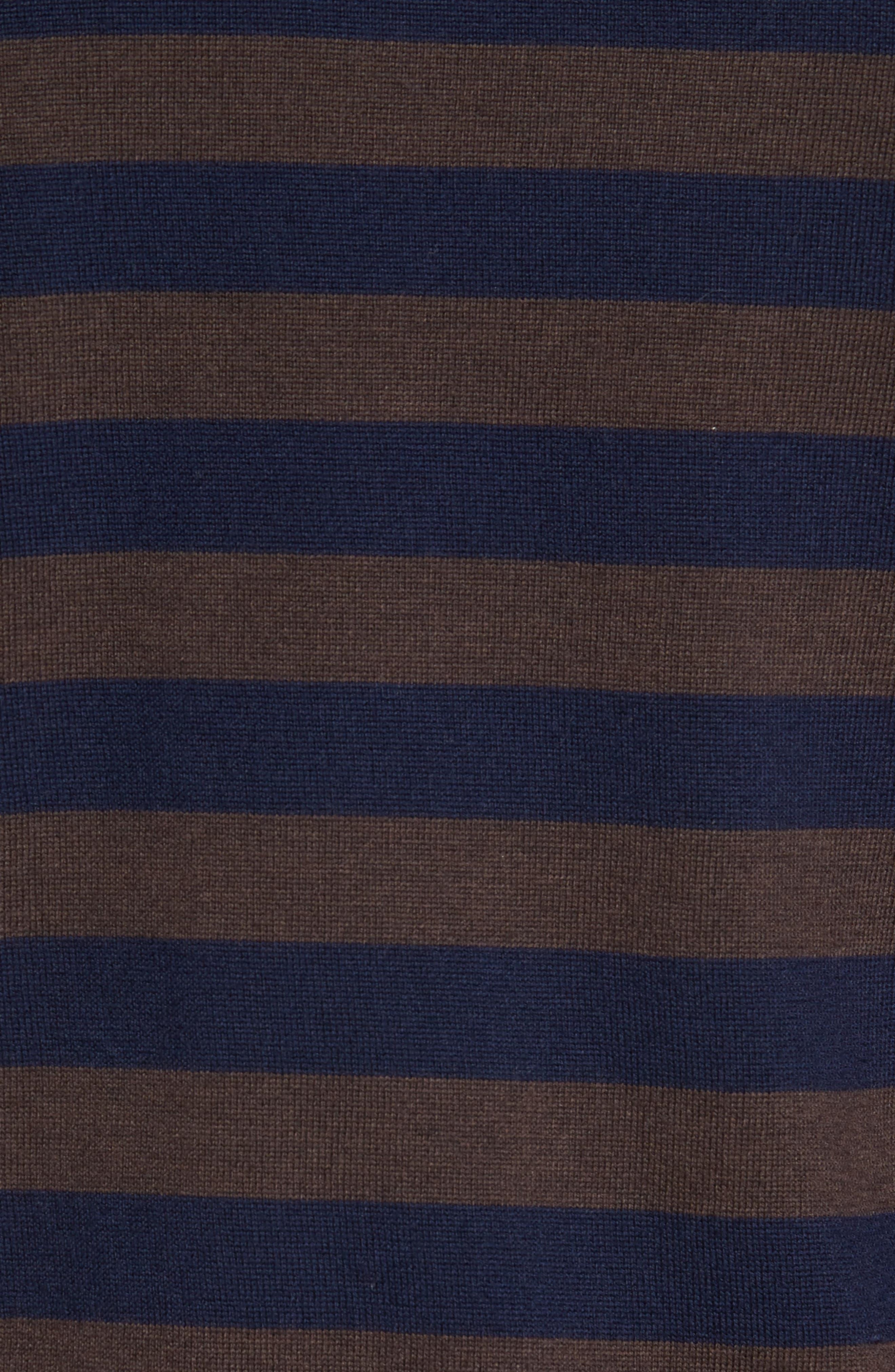 Striped Turtleneck Sweater,                             Alternate thumbnail 5, color,                             204