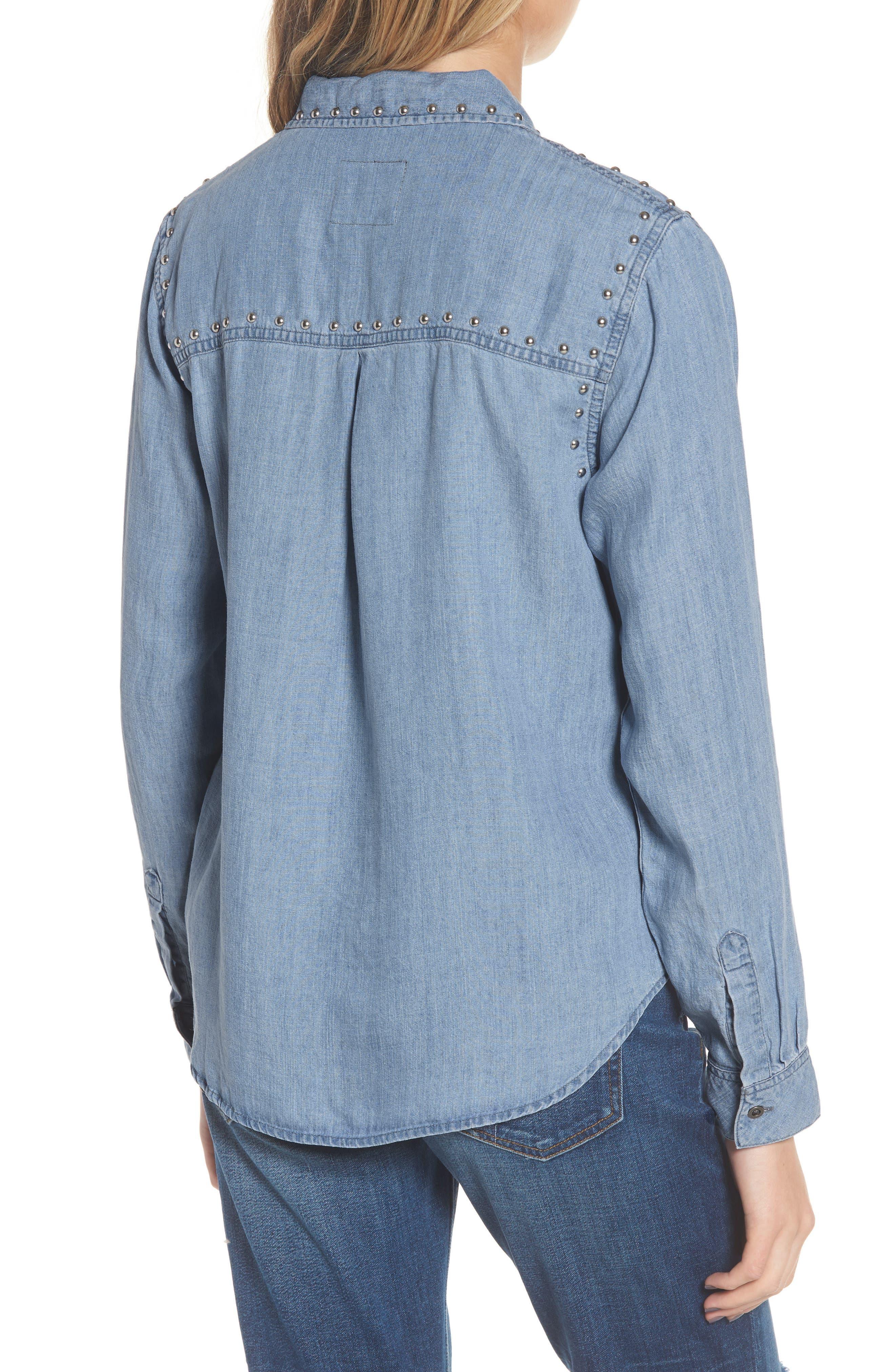Ingrid Studded Shirt,                             Alternate thumbnail 2, color,                             493