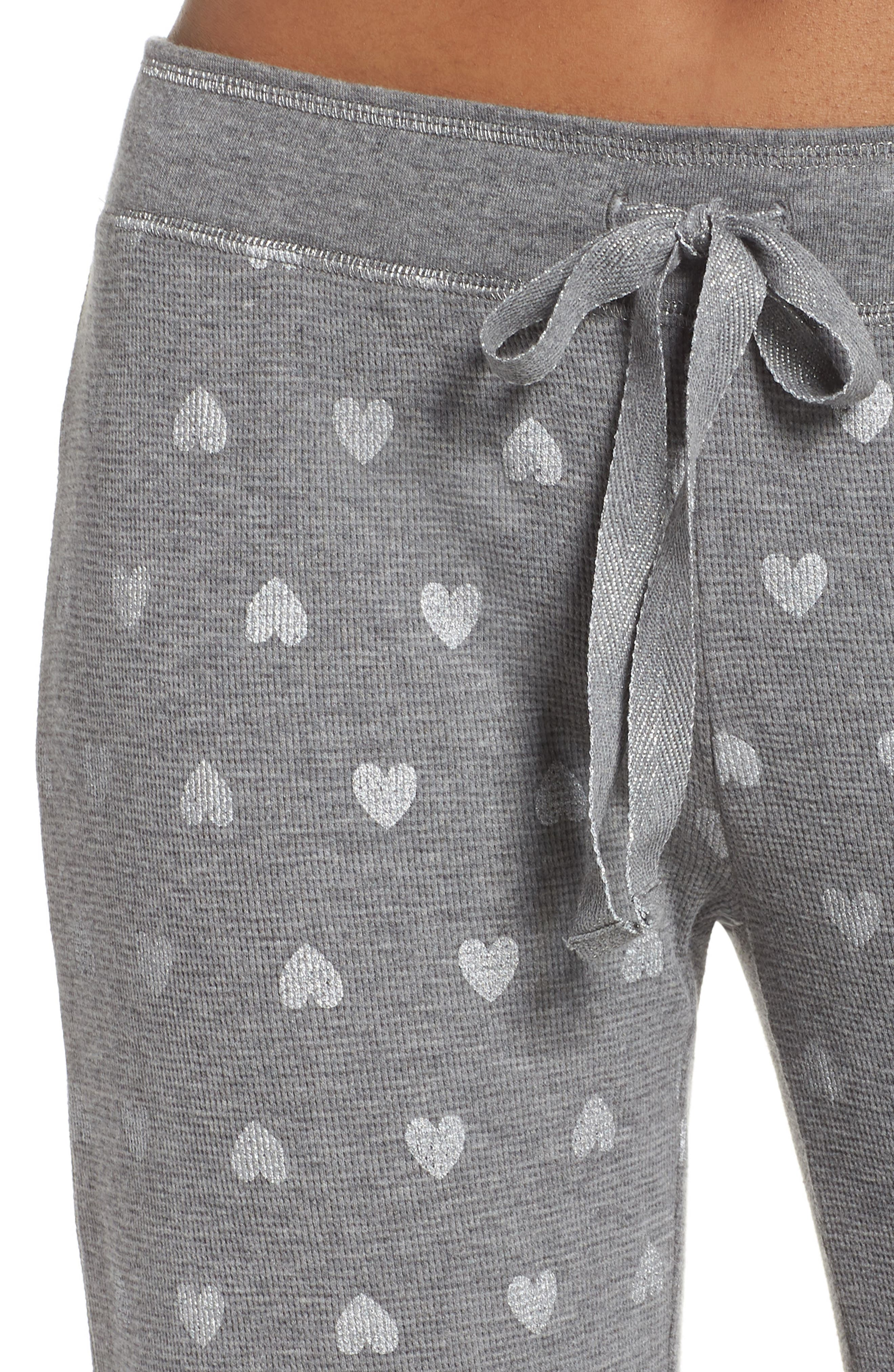 Wild Heart Thermal Lounge Pants,                             Alternate thumbnail 4, color,                             020