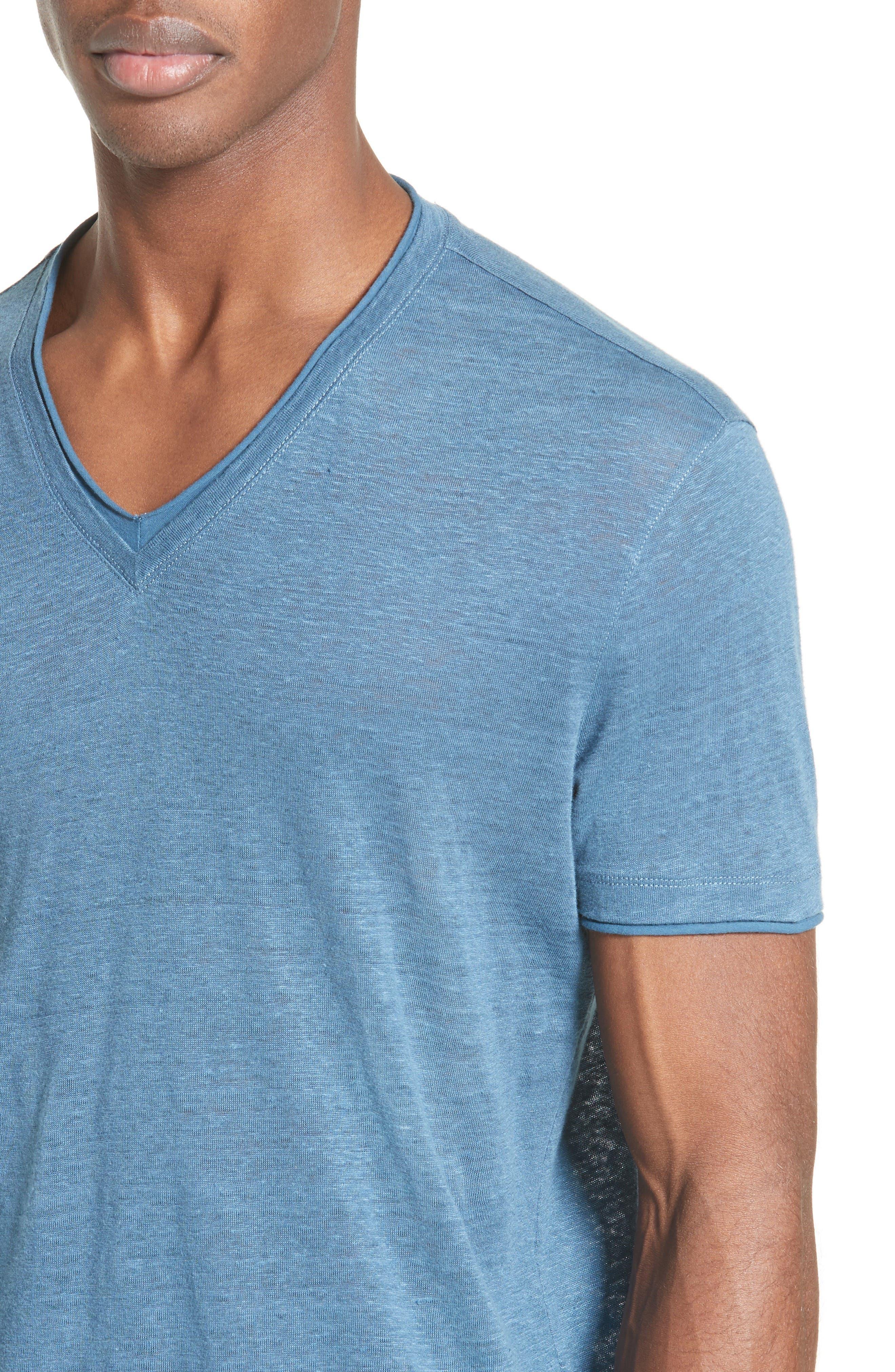Linen T-Shirt,                             Alternate thumbnail 4, color,                             428
