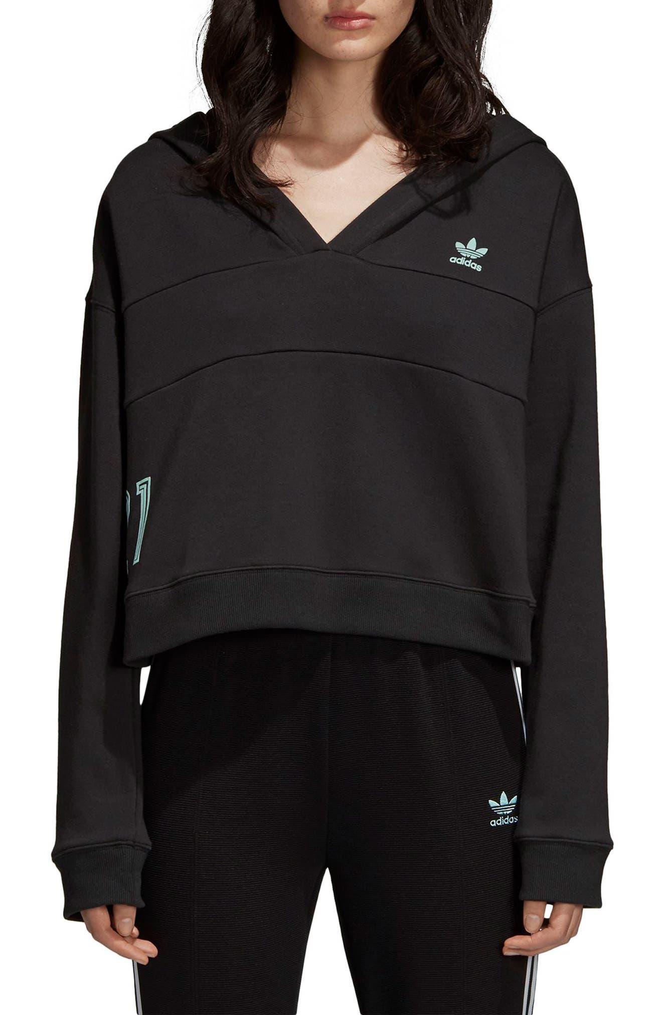 Adidas Crop Hoodie, Black