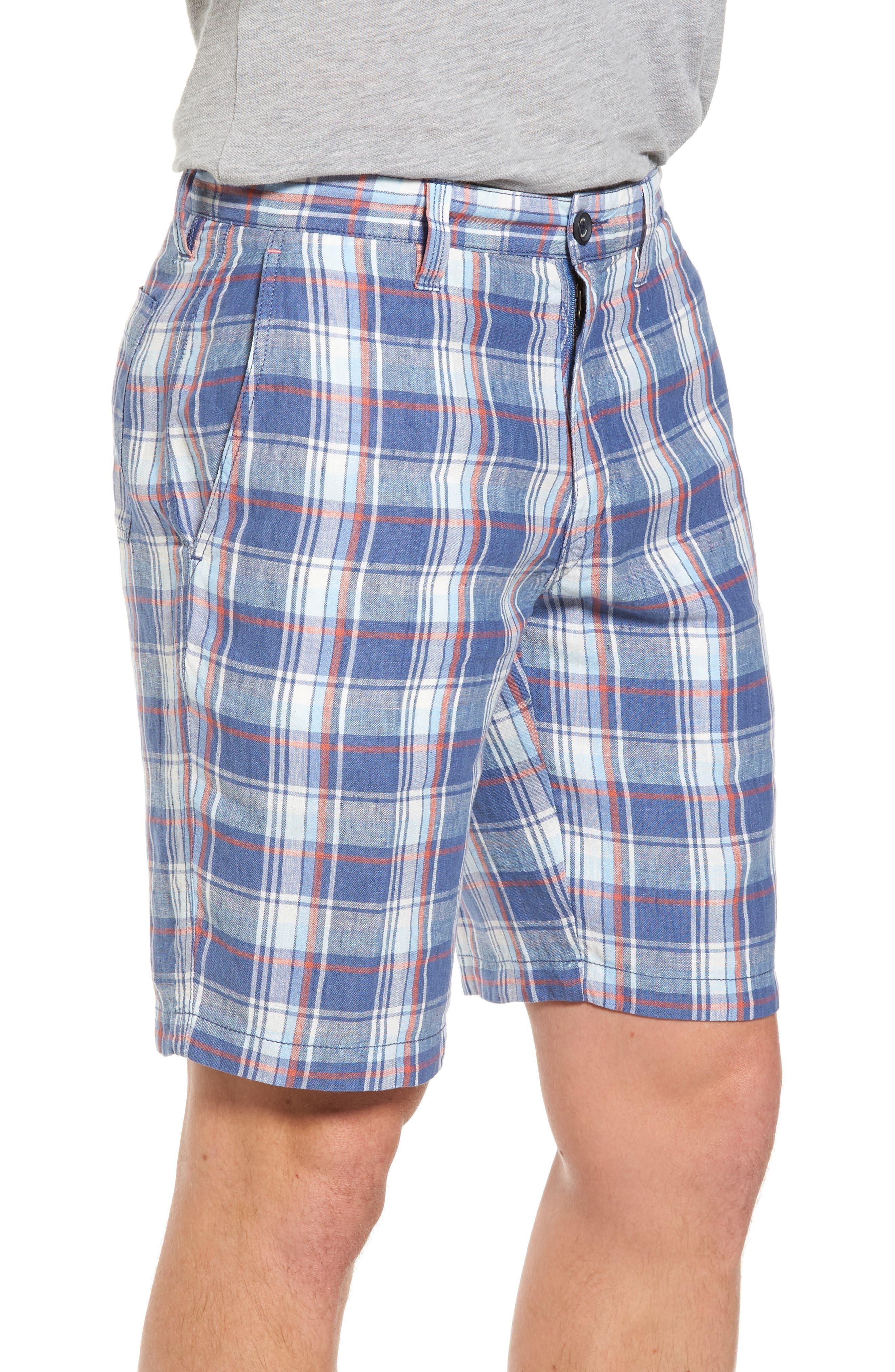 Plaid De Leon Reversible Shorts,                             Alternate thumbnail 8, color,