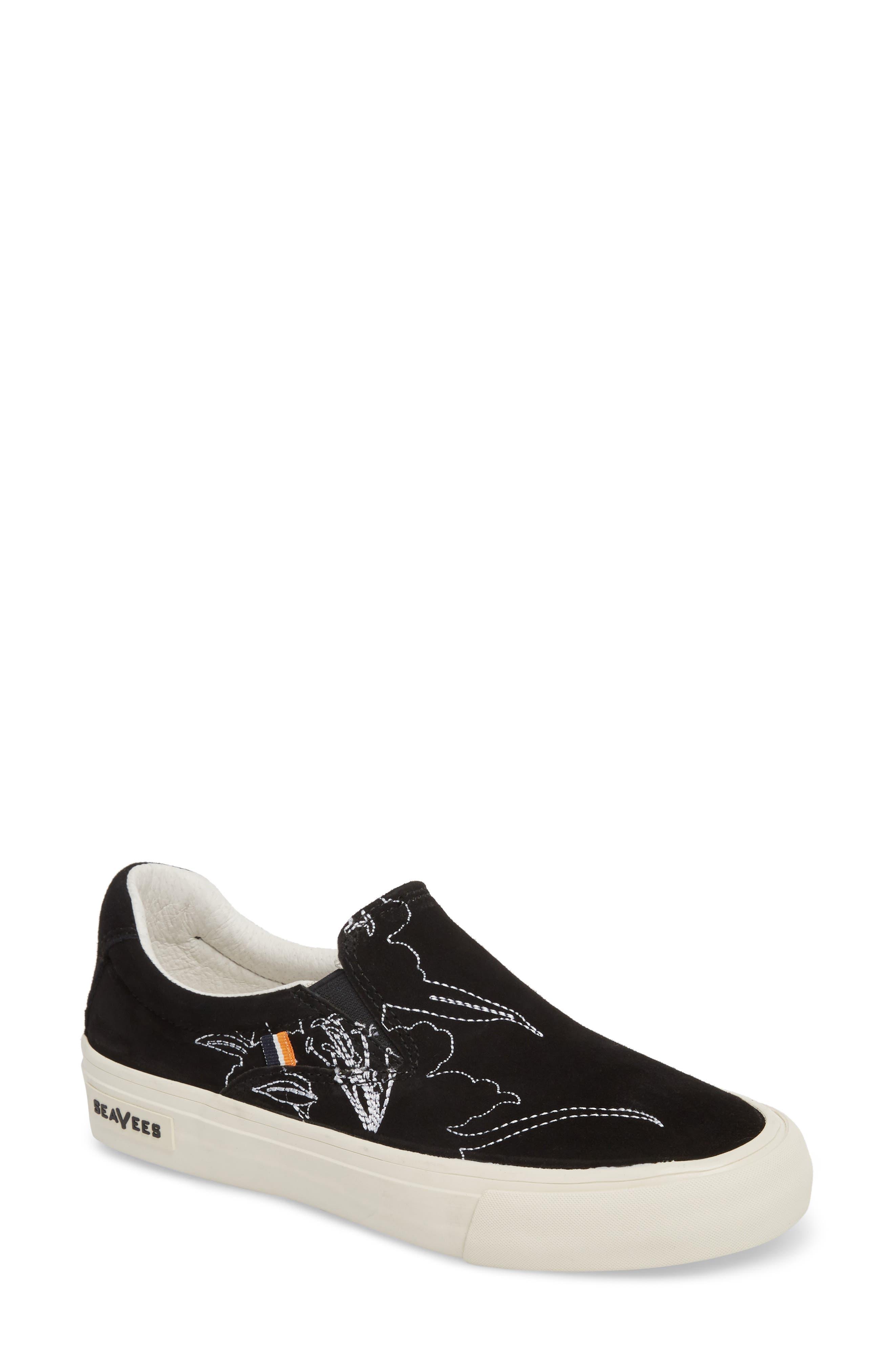 x Derek Lam 10 Crosby Hawthorne Embroidered Slip-On,                             Main thumbnail 1, color,                             001