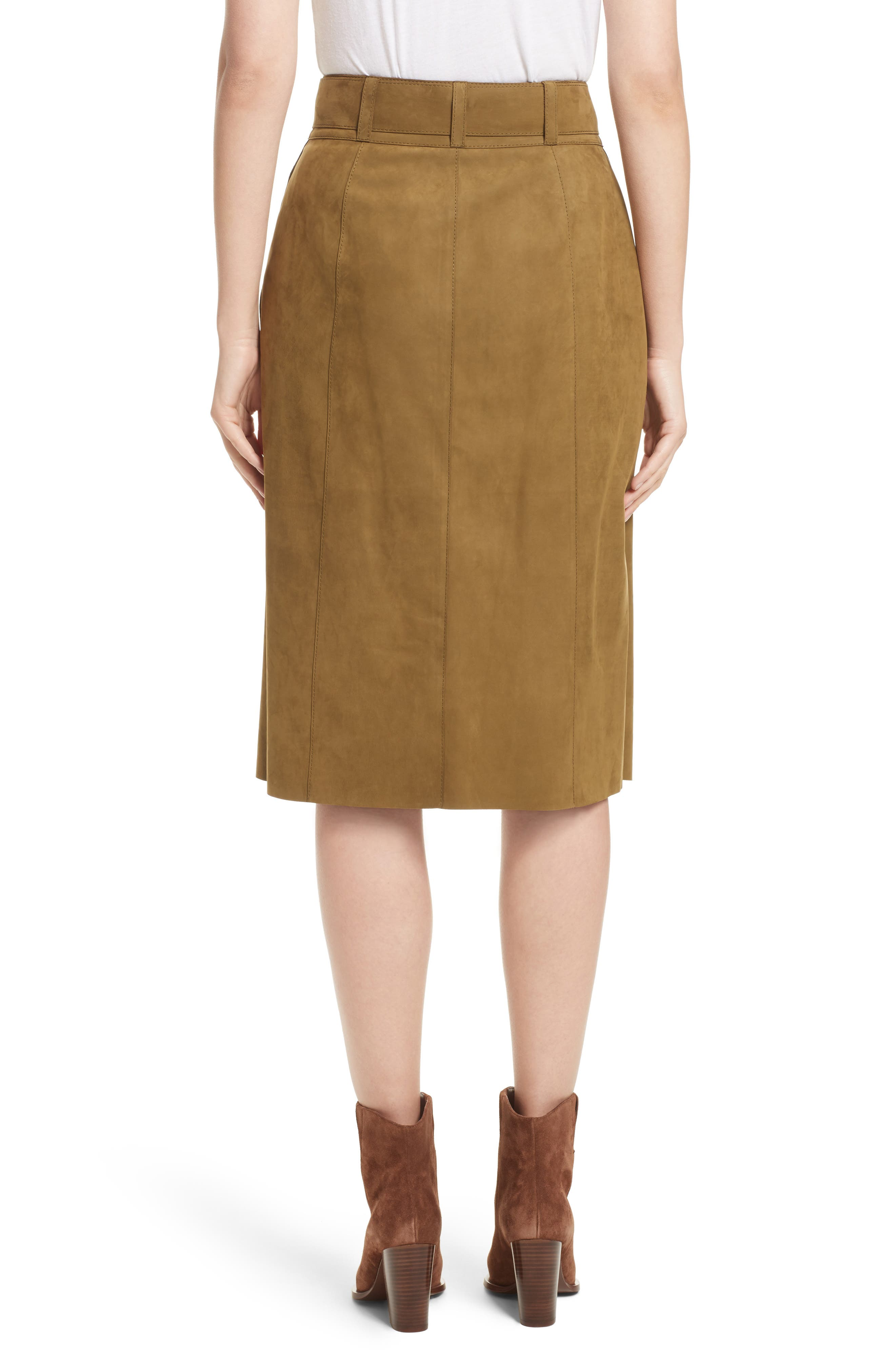 Orla Leather Skirt,                             Alternate thumbnail 2, color,                             389