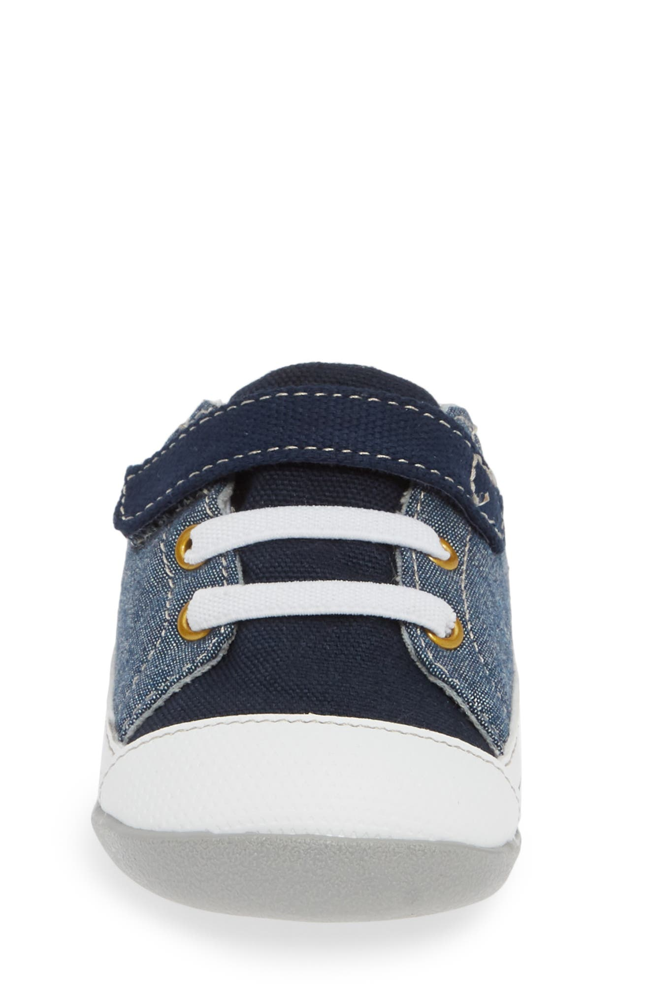 Stevie II Sneaker,                             Alternate thumbnail 4, color,                             BLUE DENIM