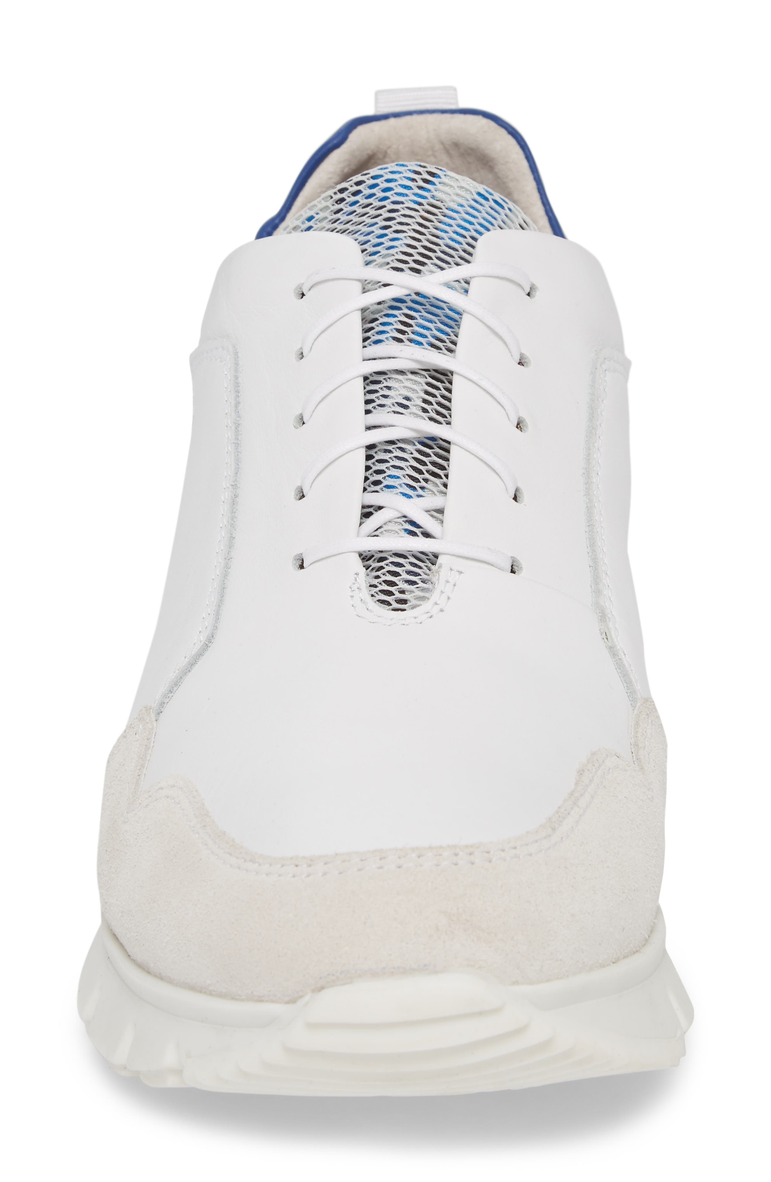 Sild Low Top Sneaker,                             Alternate thumbnail 4, color,                             WHITE SUEDE/ LEATHER