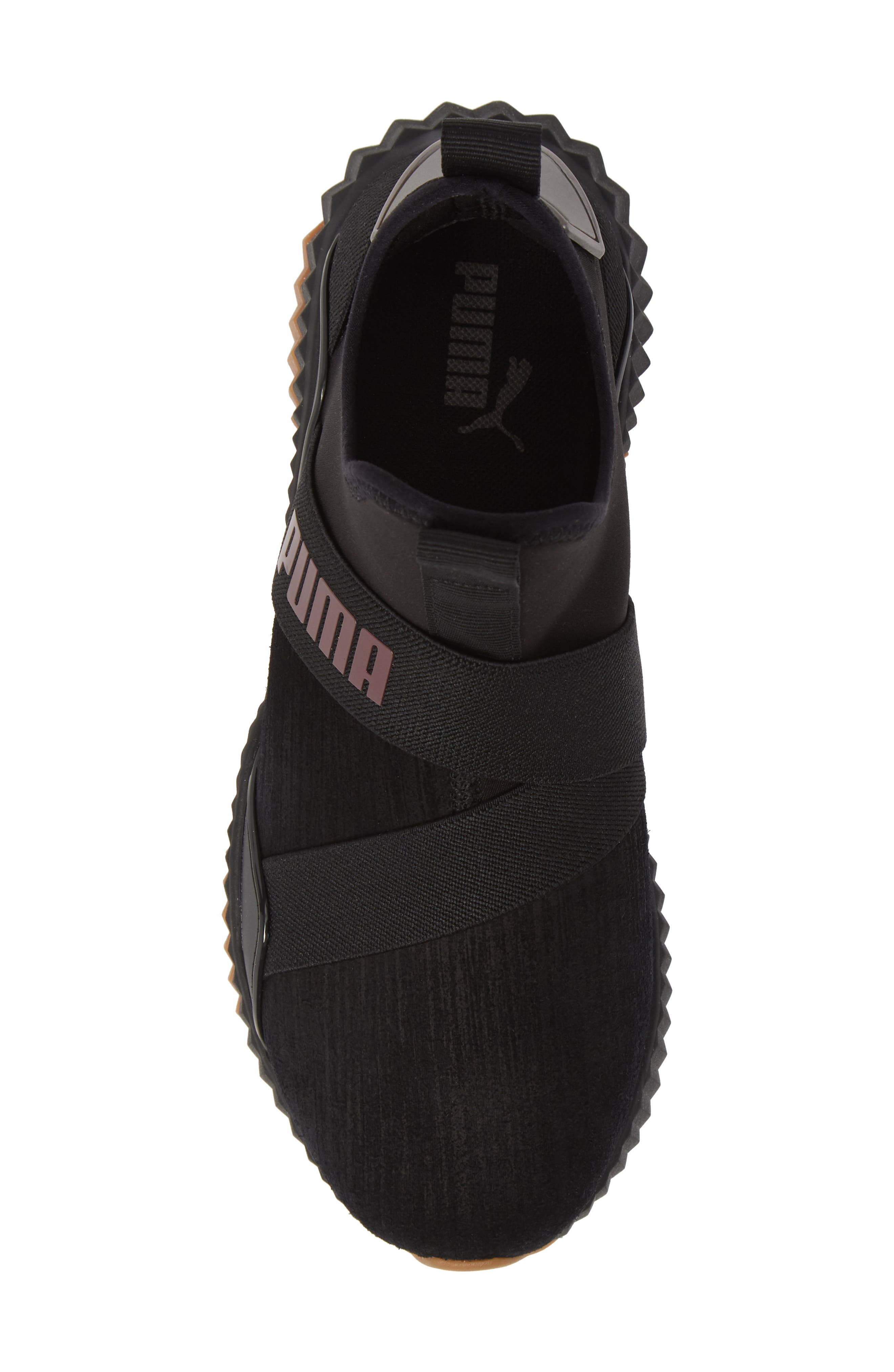 Defy Mid Luxe Sneaker,                             Alternate thumbnail 5, color,                             PUMA BLACK/ FIG