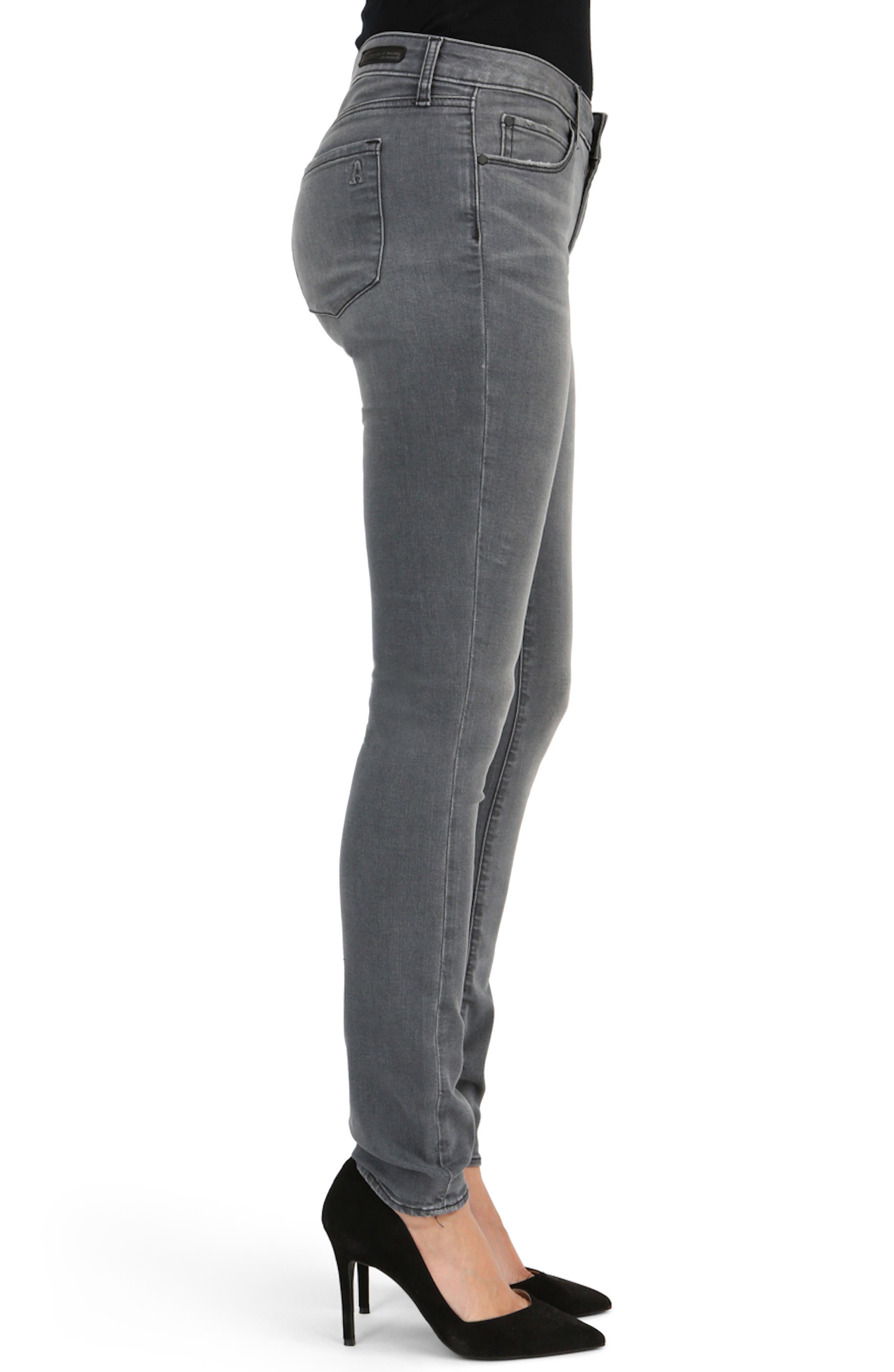 Mya Skinny Jeans,                             Alternate thumbnail 3, color,                             020