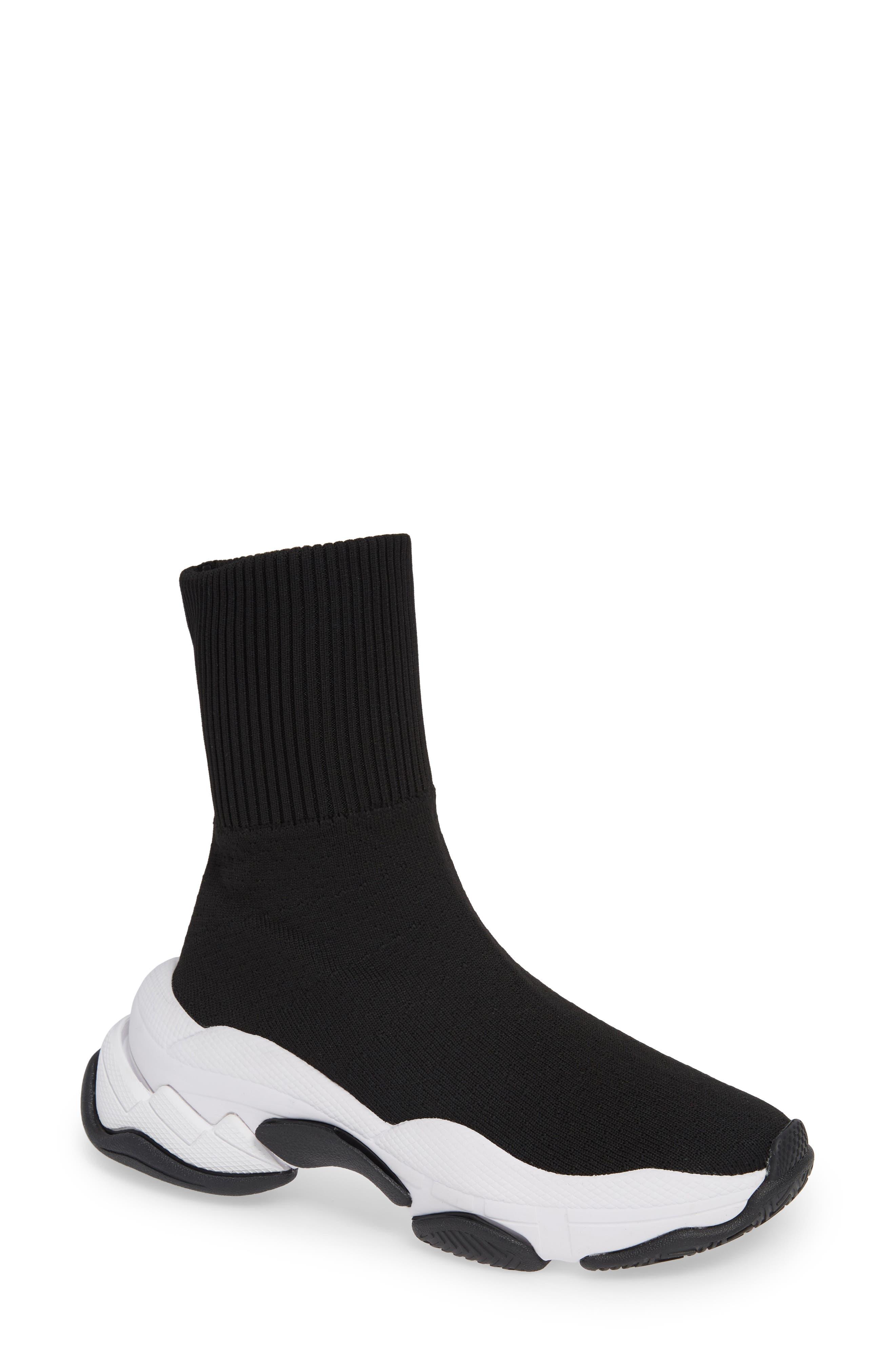 Tenko Ankle High Top Sock Sneaker,                         Main,                         color, BLACK