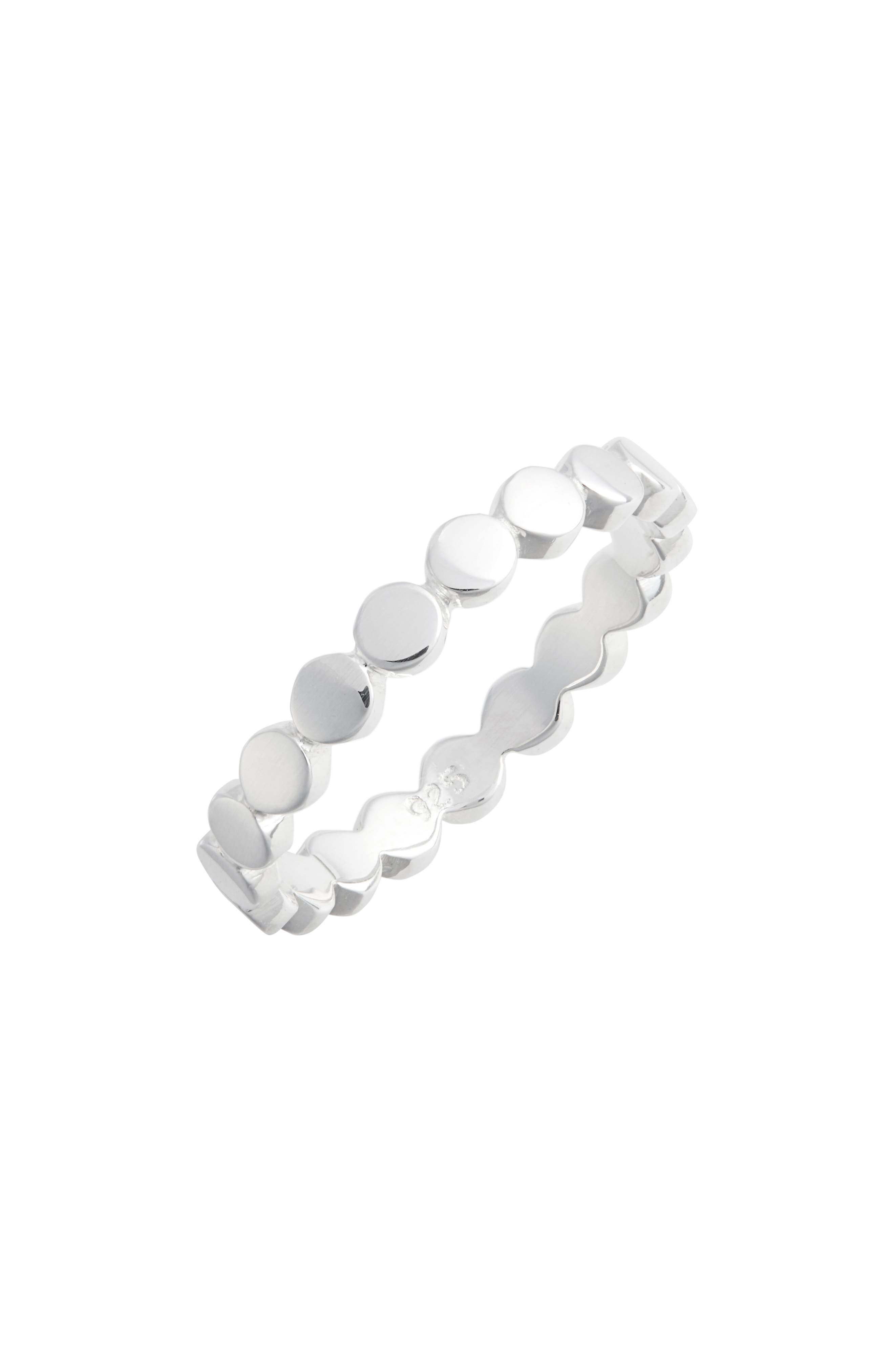 ANNA BECK Smooth Circle Stacking Ring in Silver