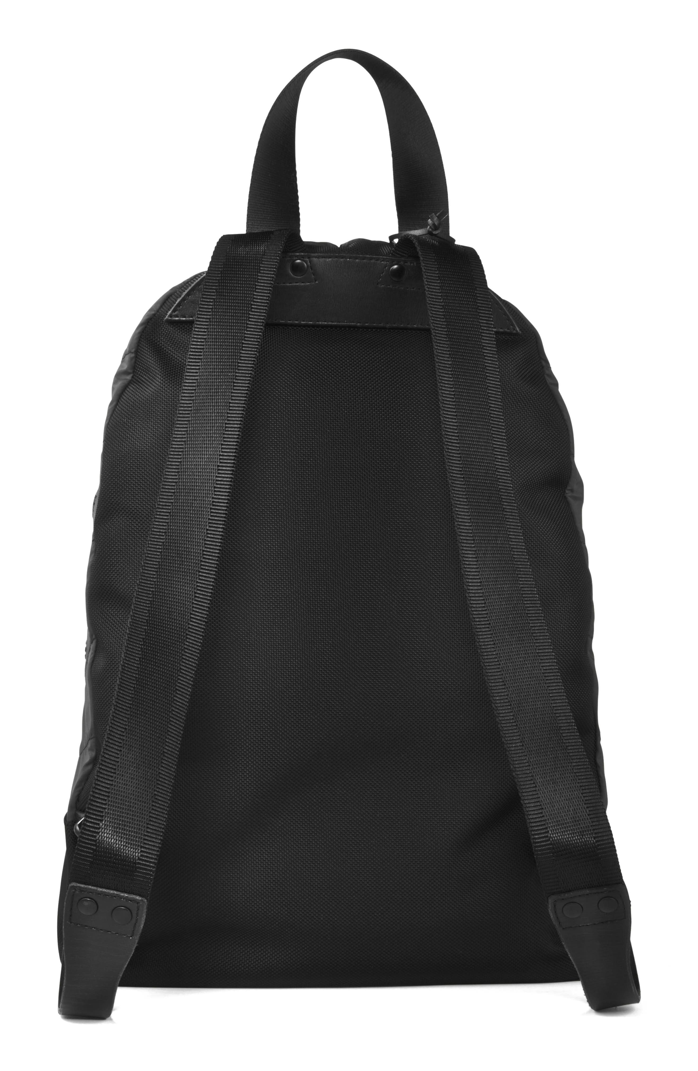Quilted Nylon Backpack,                             Alternate thumbnail 2, color,                             001