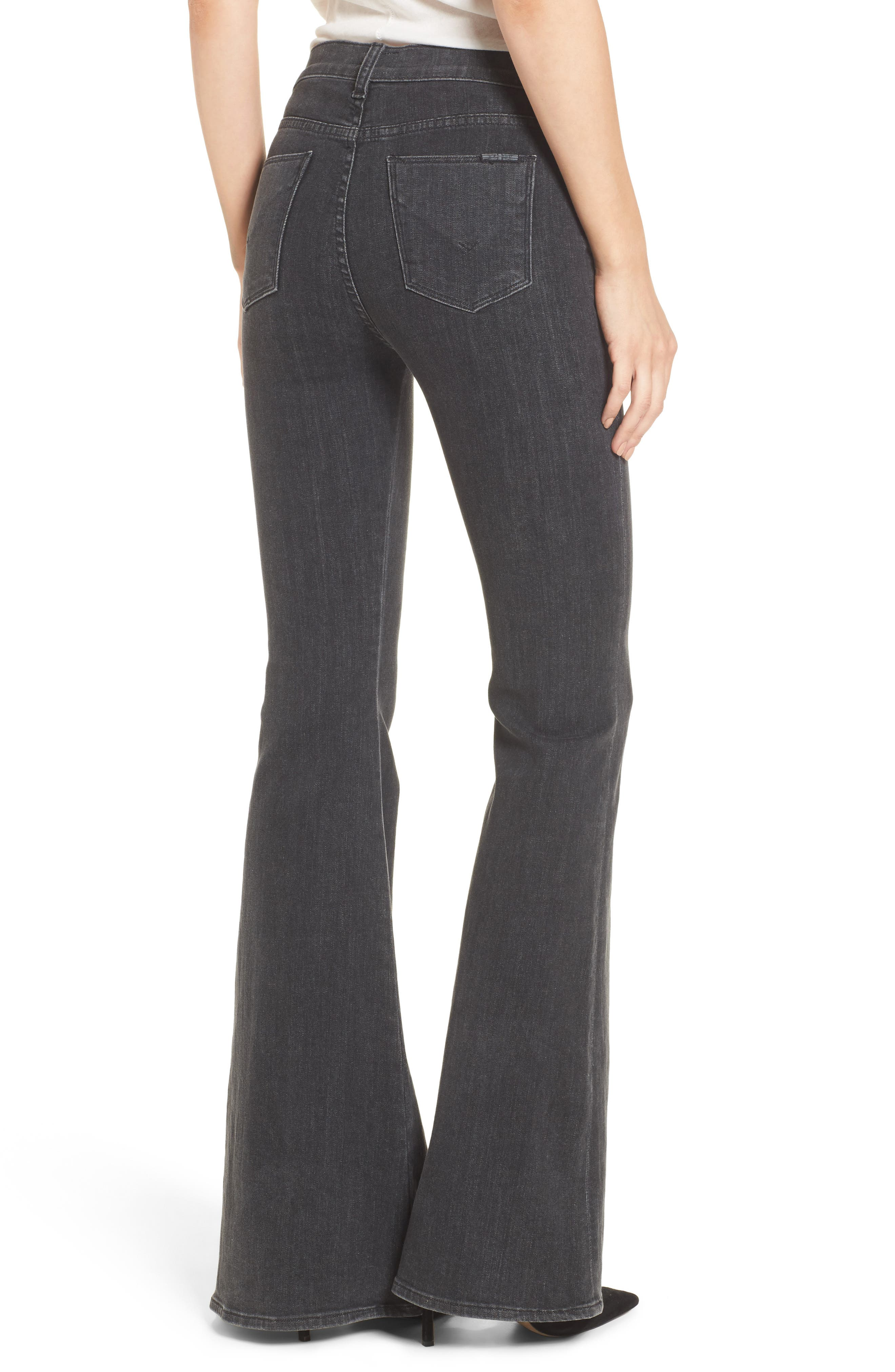 Bullocks High Waist Lace-Up Flare Jeans,                             Alternate thumbnail 2, color,
