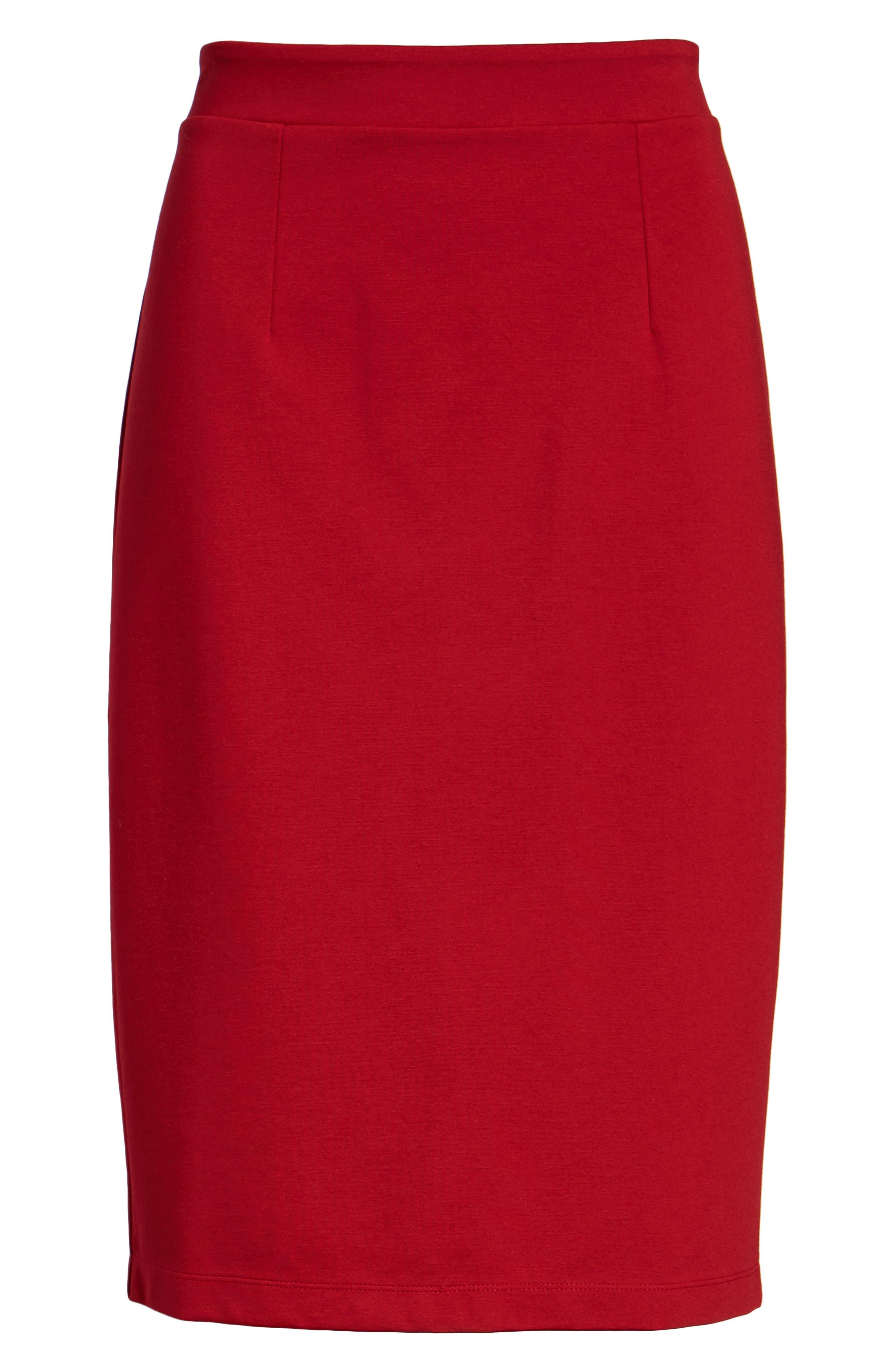 Ponte Pencil Skirt,                             Alternate thumbnail 6, color,                             603