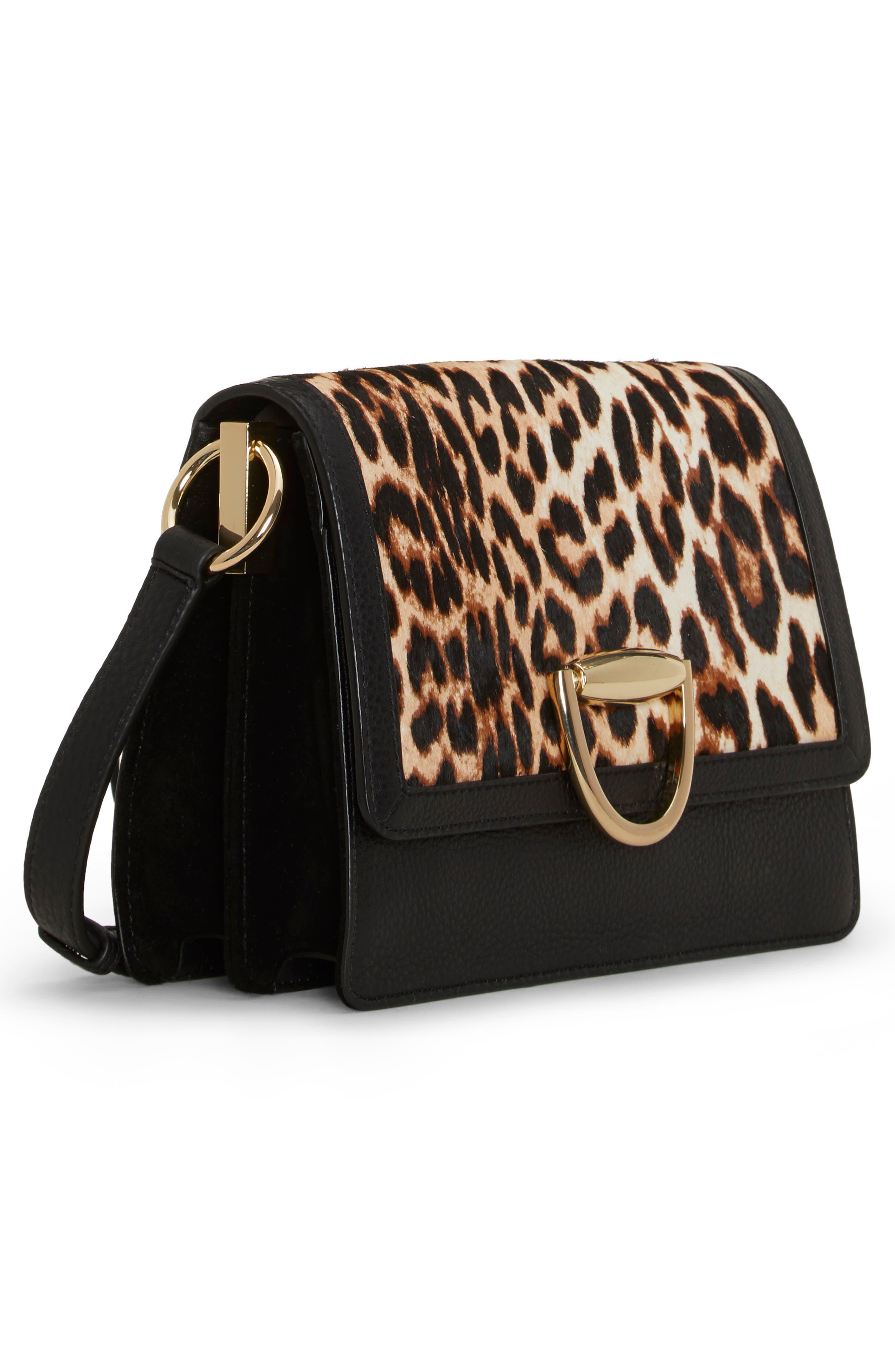 Kirisi Leather & Genuine Calf Hair Crossbody Bag,                             Alternate thumbnail 3, color,                             204