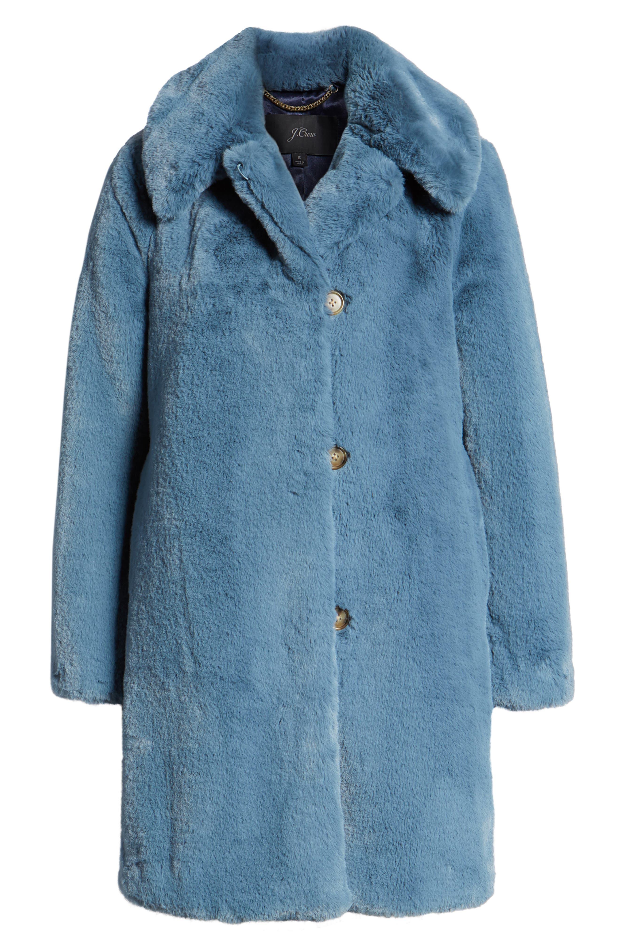 Faux Fur Coat,                             Alternate thumbnail 6, color,                             250