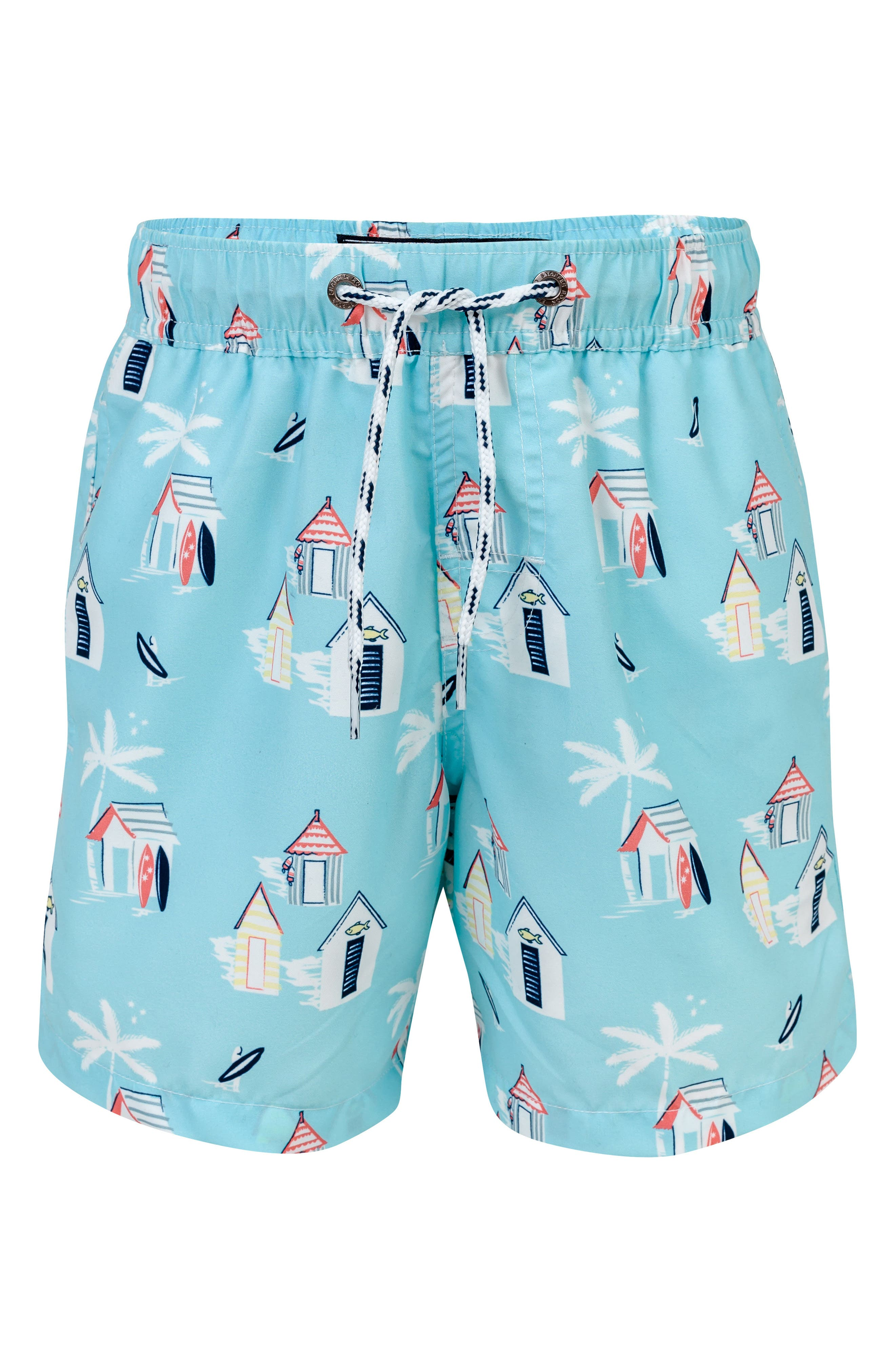 Cabana Palm Board Shorts,                         Main,                         color, LIGHT BLUE MULTI