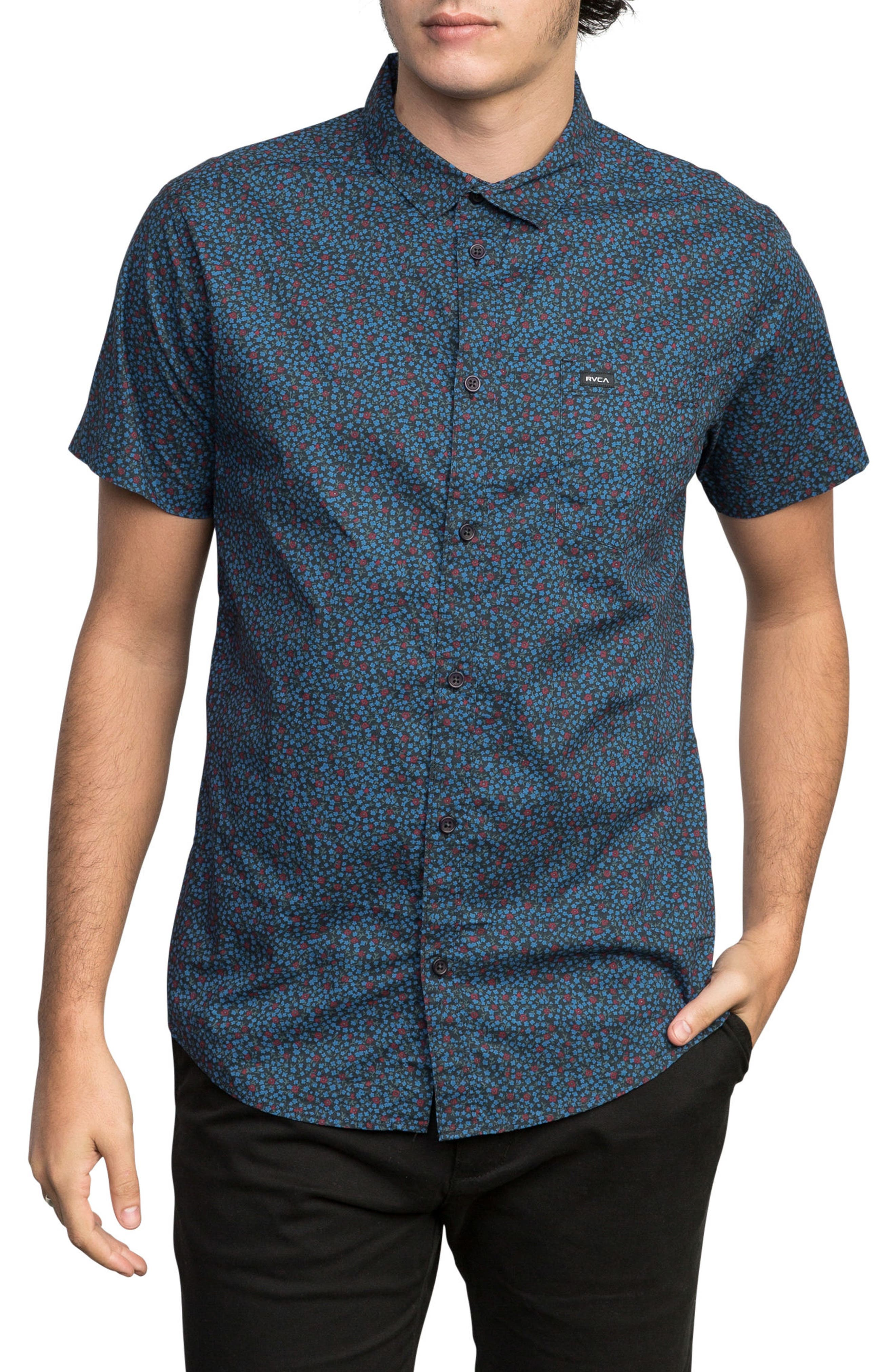 Happy Thoughts Woven Shirt,                         Main,                         color, BLACK