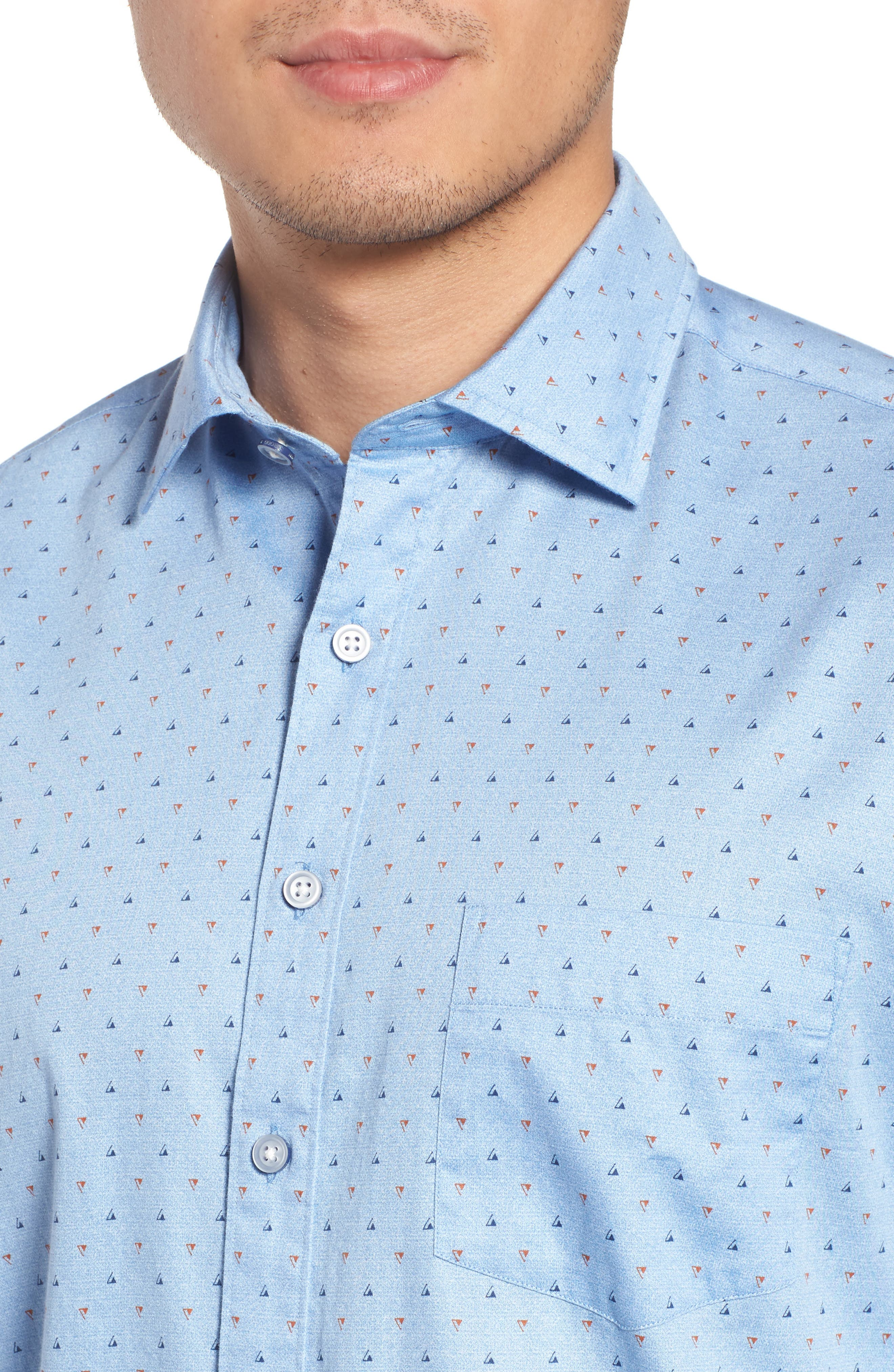 Penzance Regular Fit Sport Shirt,                             Alternate thumbnail 4, color,                             456