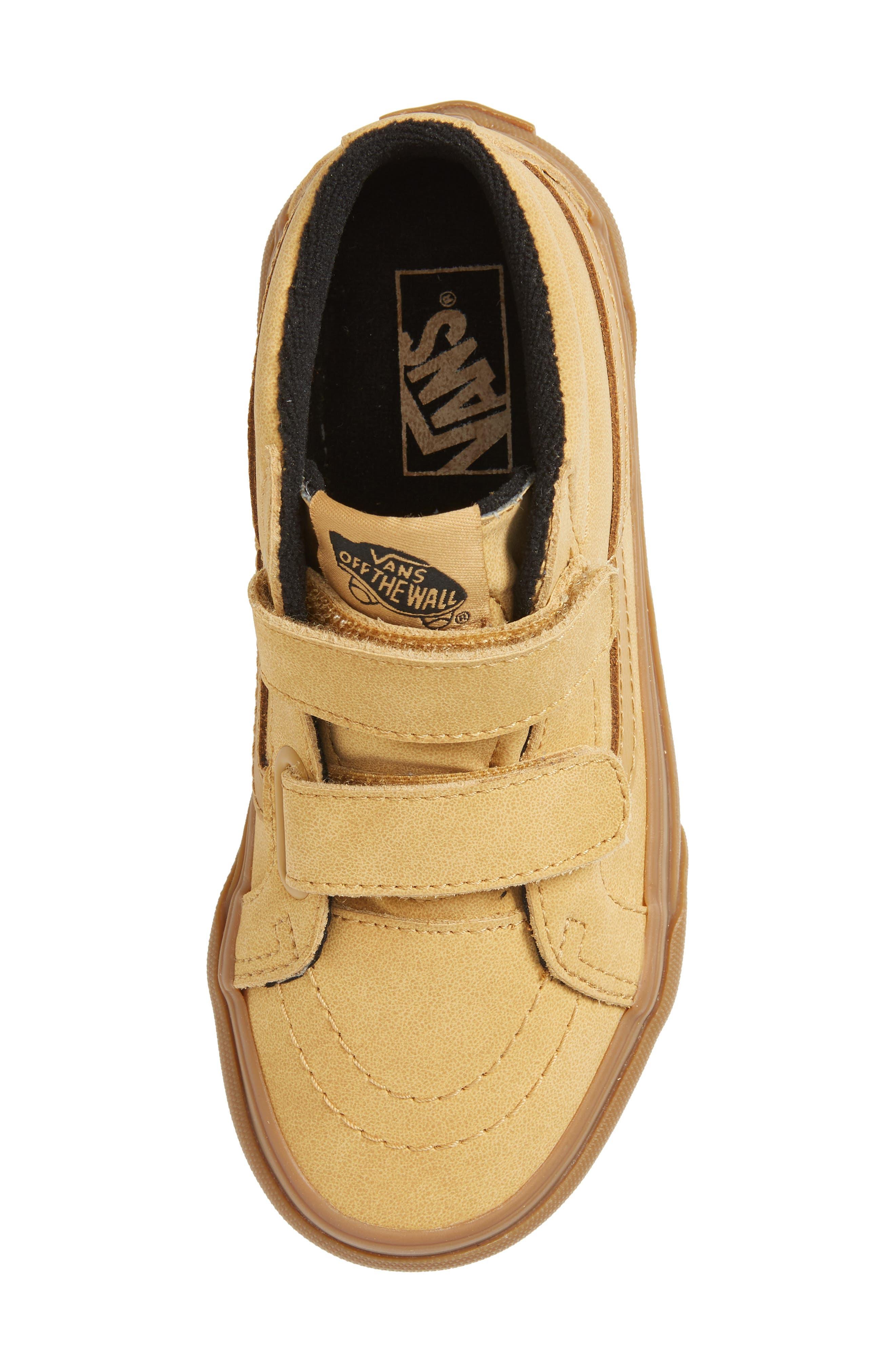 VANS,                             Sk8-Mid Reissue V Sneaker,                             Alternate thumbnail 5, color,                             VANSBUCK/ APPLE CINNAMON