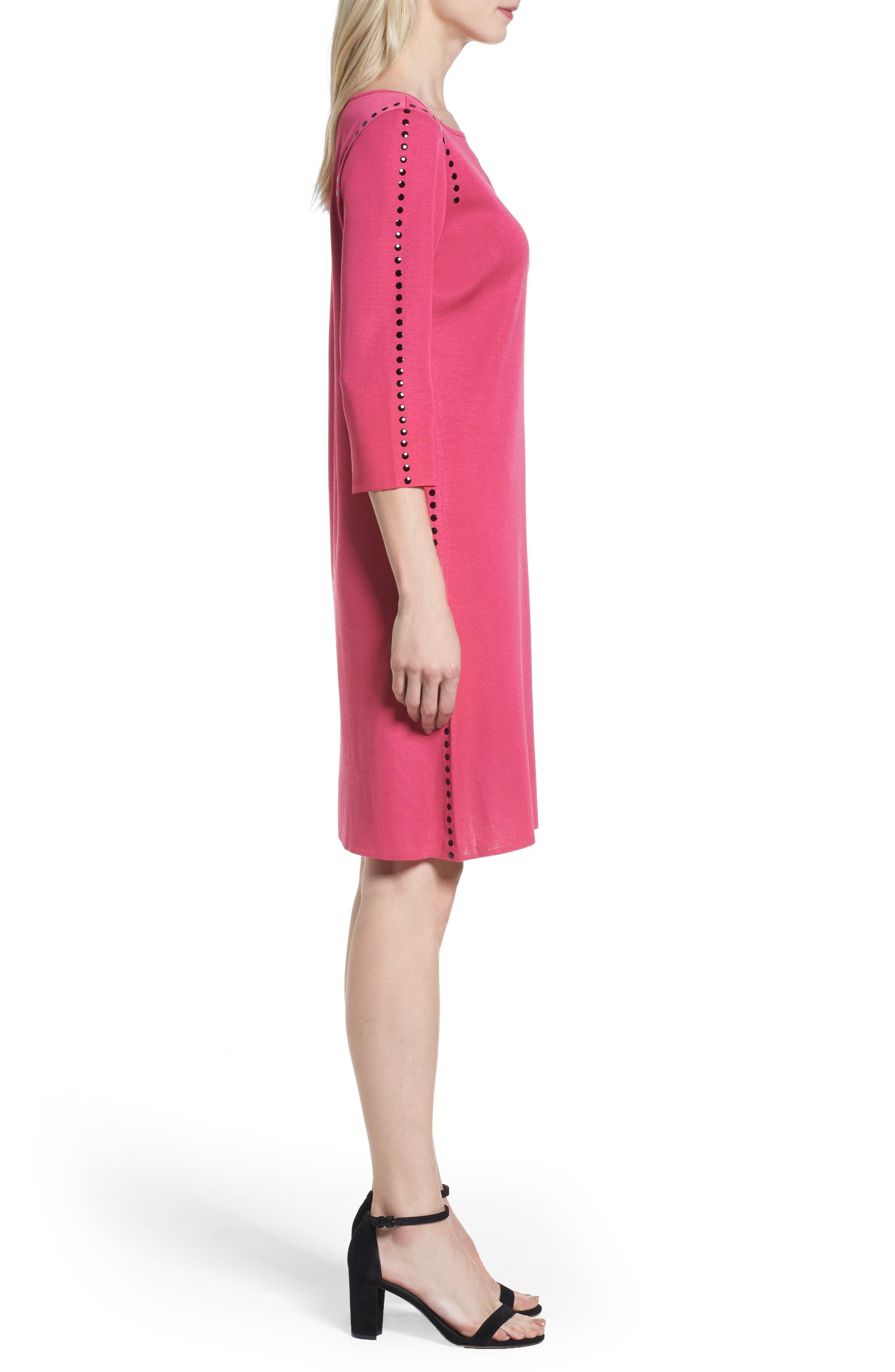 Studded Sweater Dress,                             Alternate thumbnail 3, color,                             643
