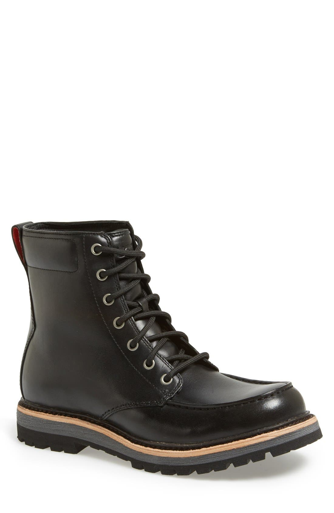 Australia 'Noxon' Waterproof Moc Toe Boot,                         Main,                         color, 001