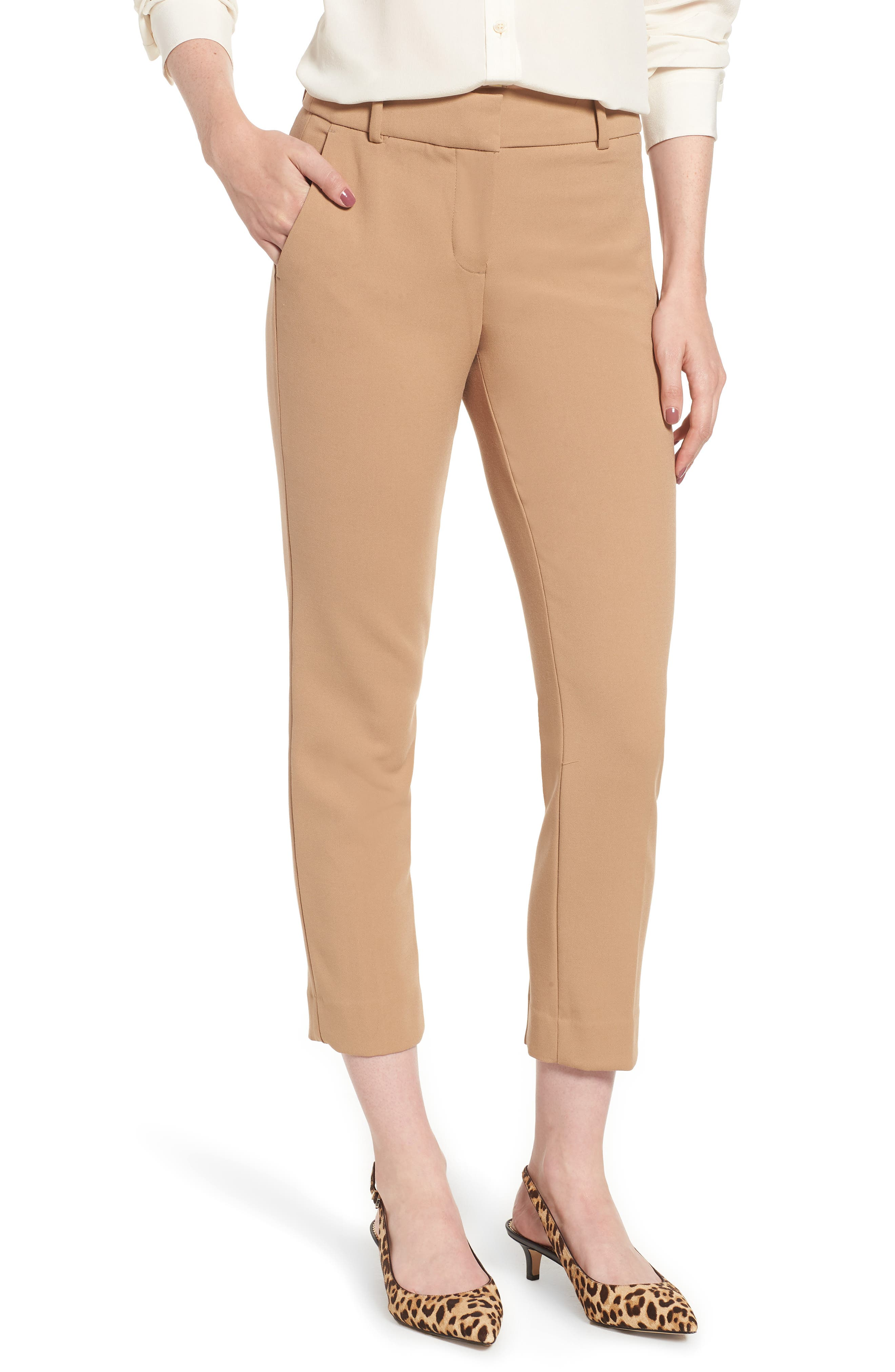 Cameron Four Season Crop Pants,                         Main,                         color, HEATHER SADDLE