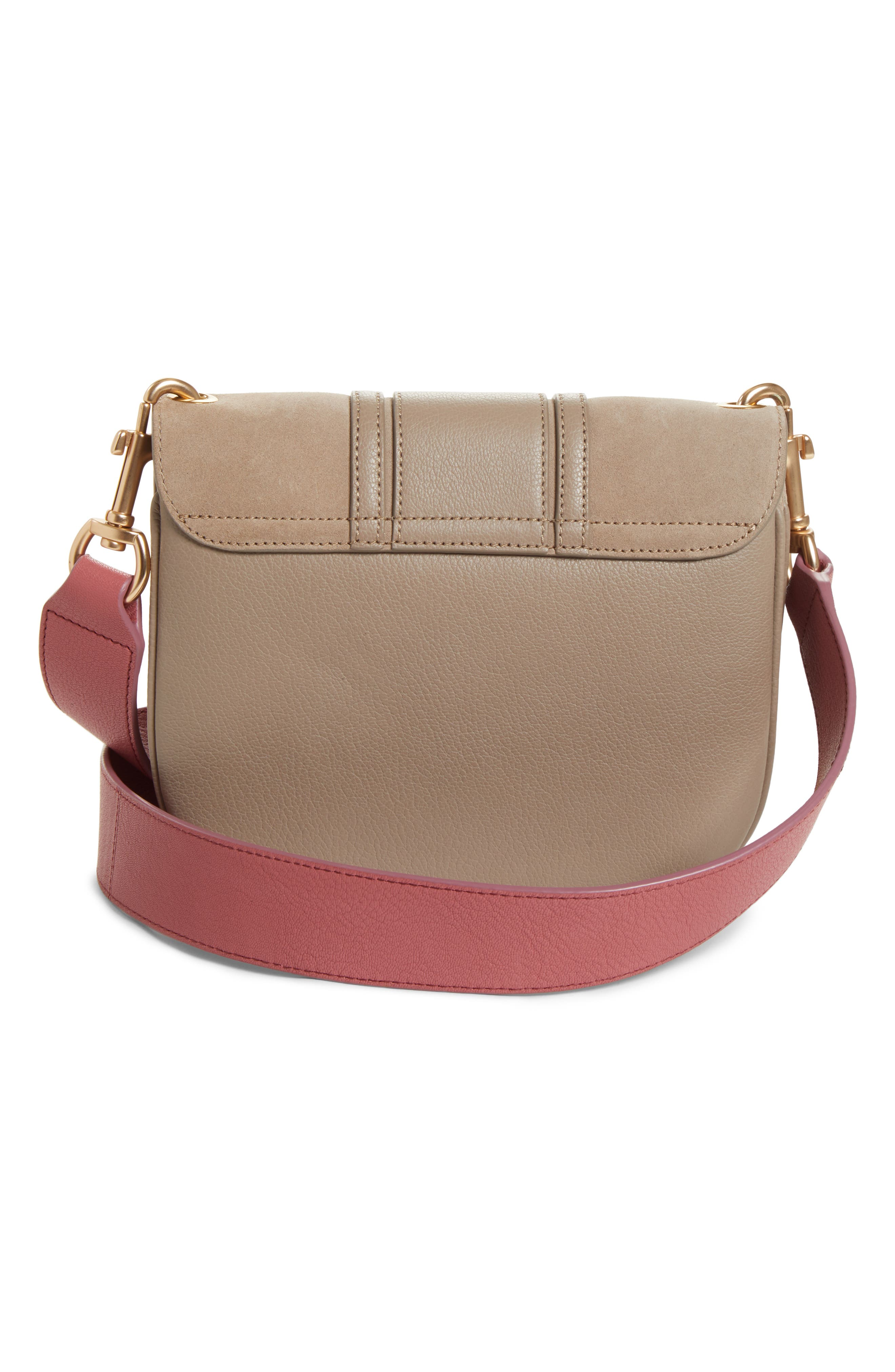 Hana Leather Shoulder Bag,                             Alternate thumbnail 3, color,                             020