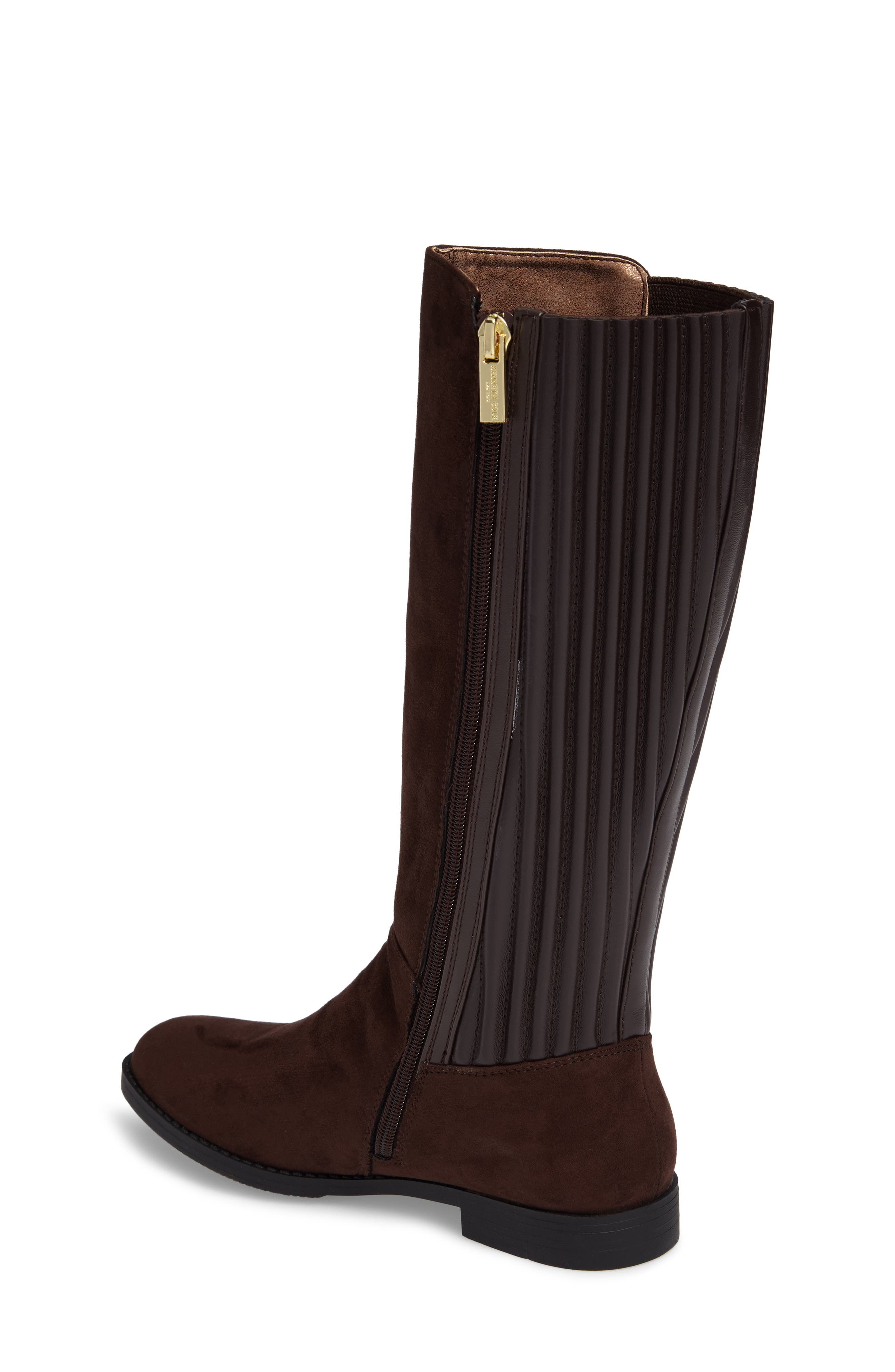 Kennedy Pleated Riding Boot,                             Alternate thumbnail 4, color,