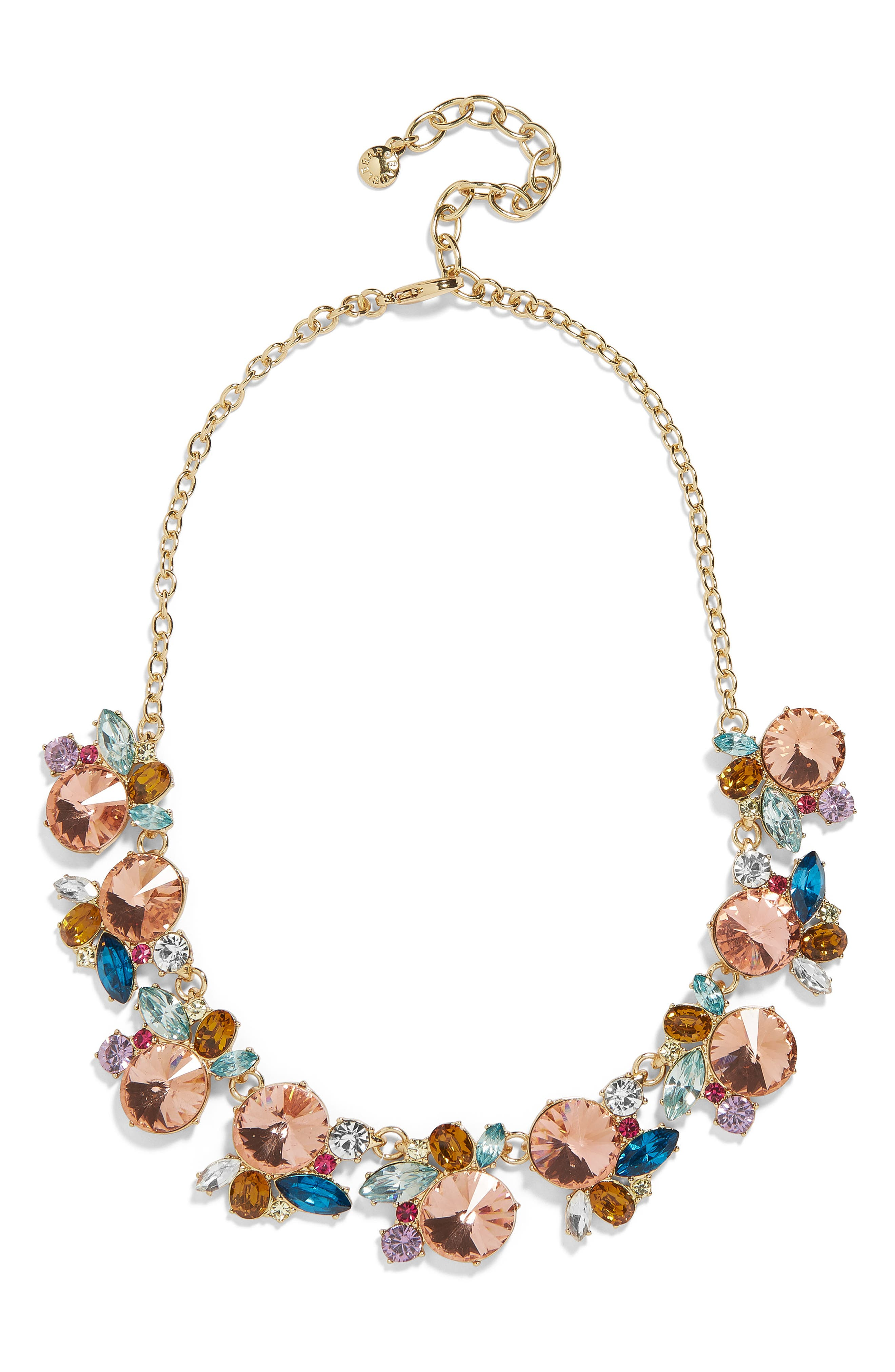 Estelle Statement Necklace,                             Main thumbnail 1, color,                             MULTI PINK