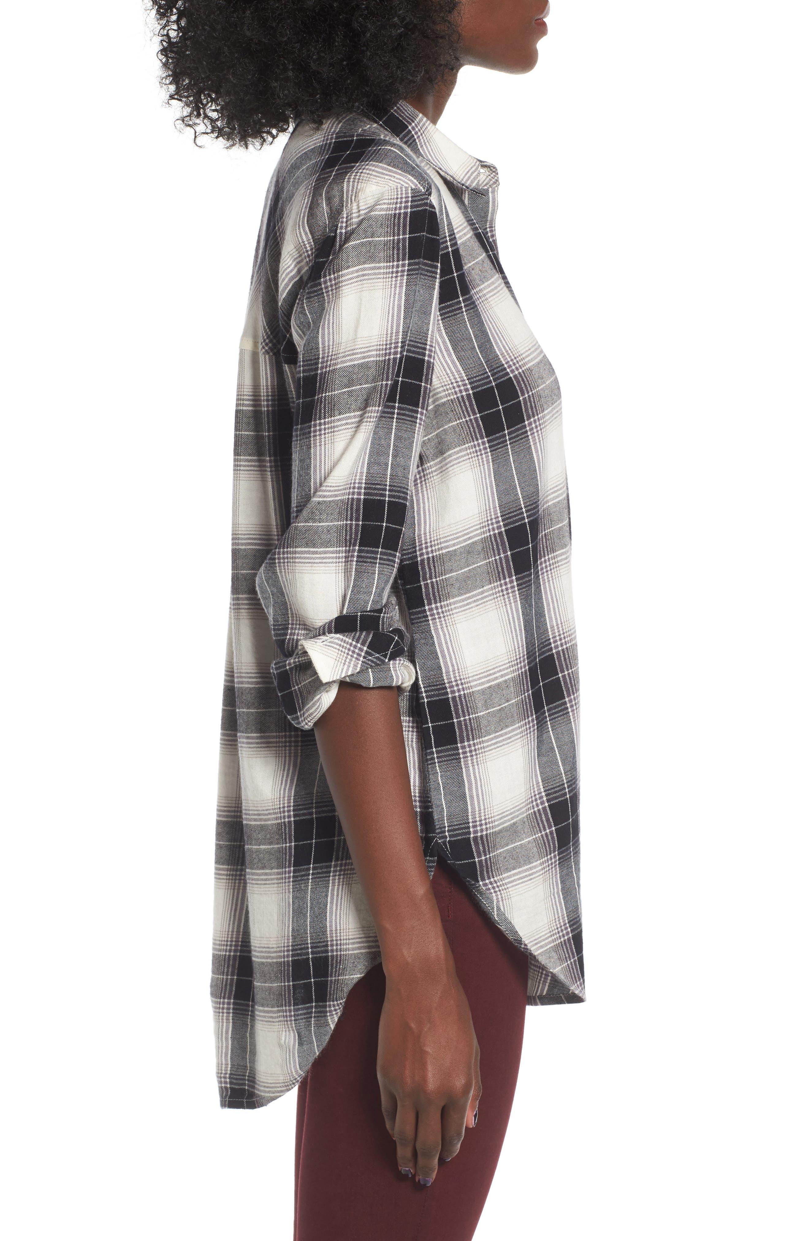 Plaid Cotton Blend Shirt,                             Alternate thumbnail 15, color,